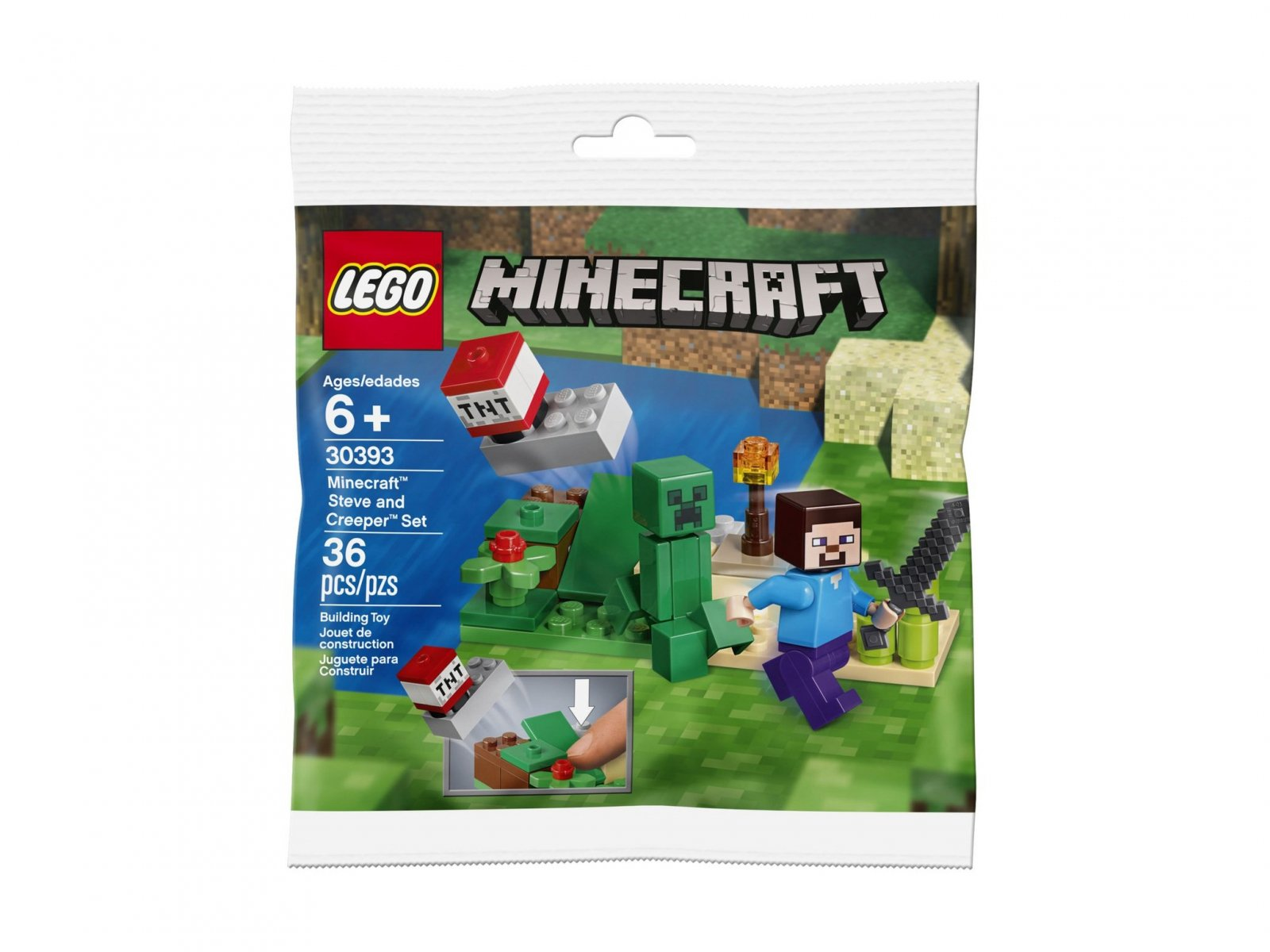LEGO Minecraft™ 30393 Steve and Creeper™ Set