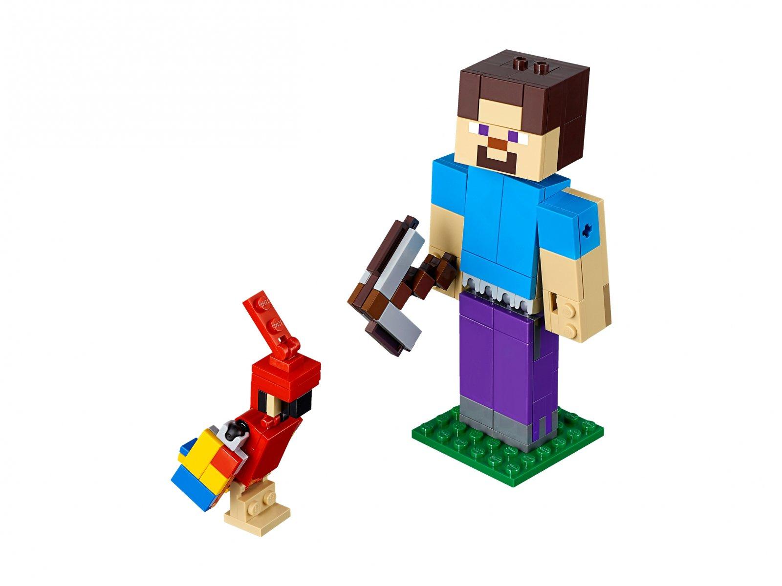 Lego 21148 Minecraft Bigfig Steve Z Papugą Zklockówpl