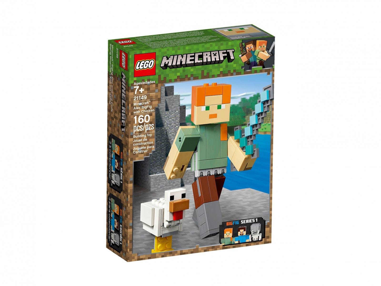 LEGO Minecraft™ BigFig 21149 Alex z kurczakiem