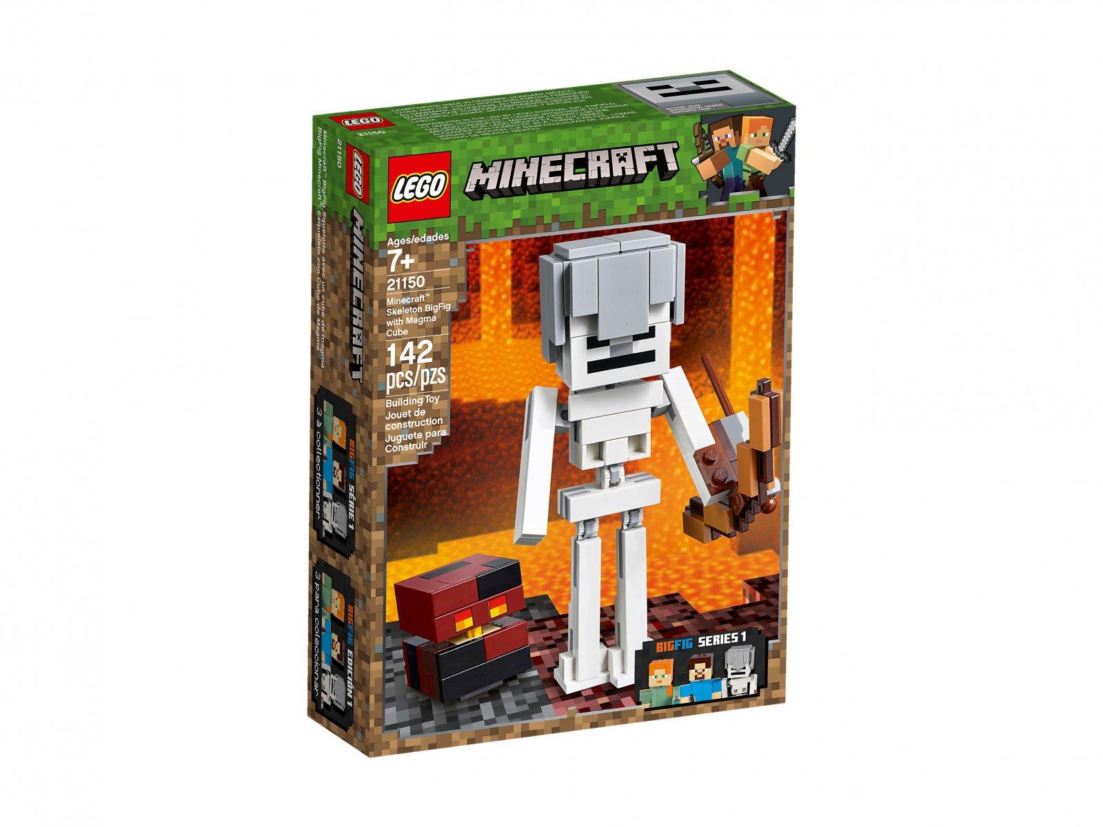 LEGO 21150 Minecraft™ BigFig Szkielet z kostką magmy