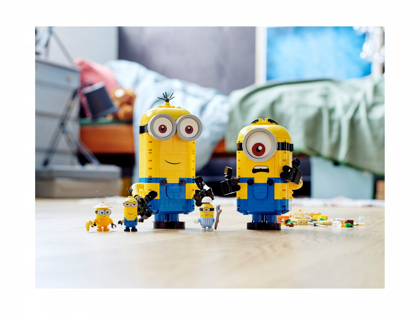 LEGO Minions 75551 Minionki z klocków i ich gniazdo