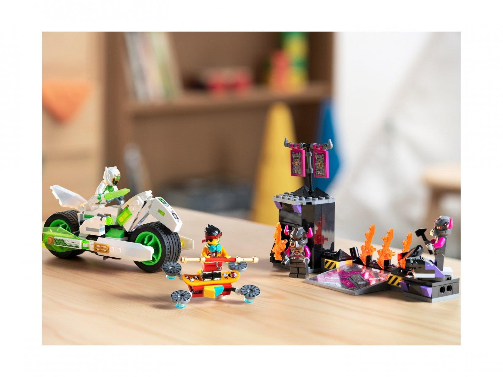 LEGO 80006 Motocykl Biały Smok