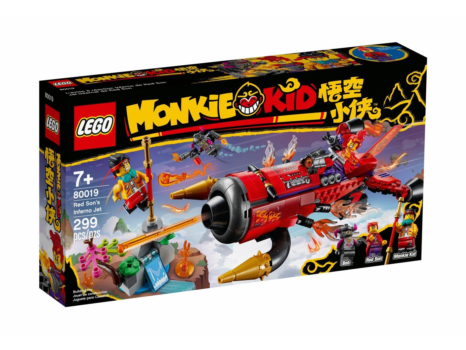 LEGO Monkie Kid Piekielny odrzutowiec Red Sona 80019