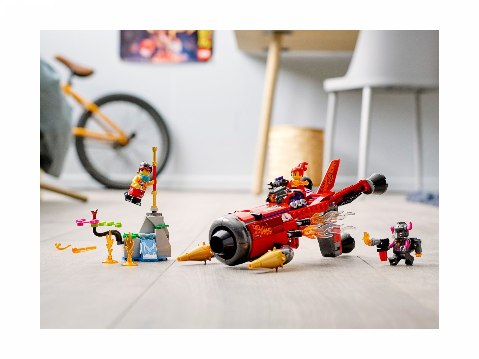 LEGO Monkie Kid 80019 Piekielny odrzutowiec Red Sona