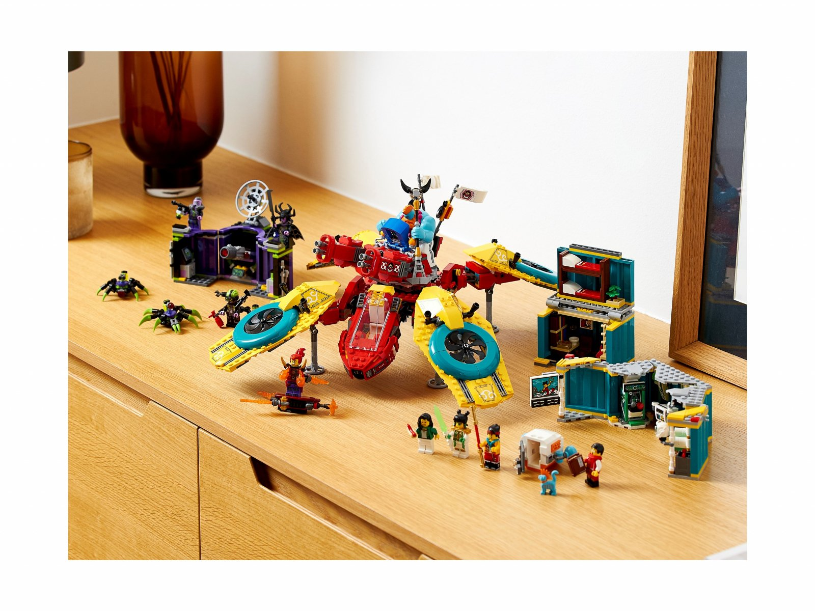 LEGO 80023 Monkie Kid Dronkopter ekipy Monkie Kida