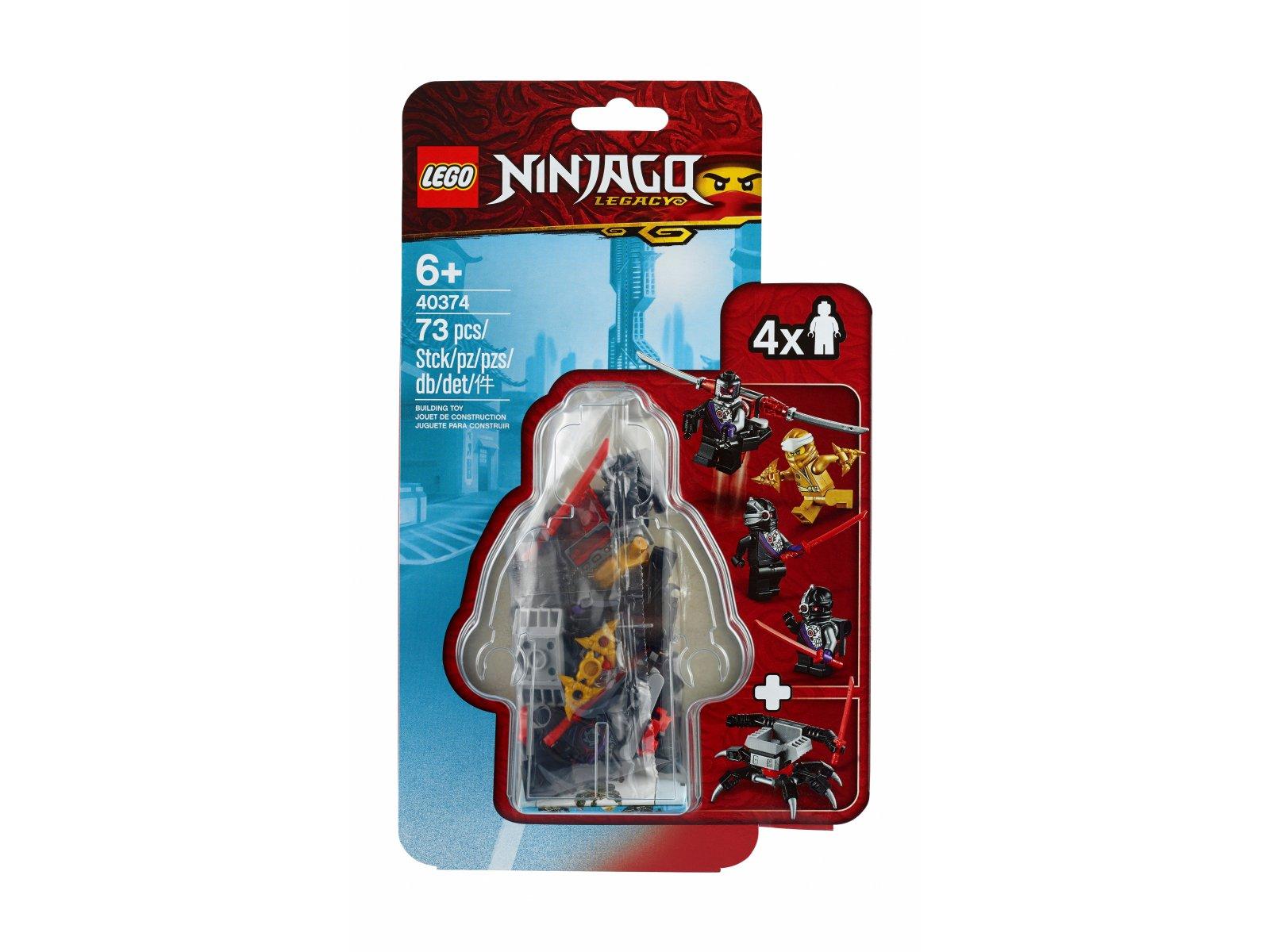 LEGO Ninjago® 40374 Zestaw akcesoriów i minifigurek ze złotym Zane'em