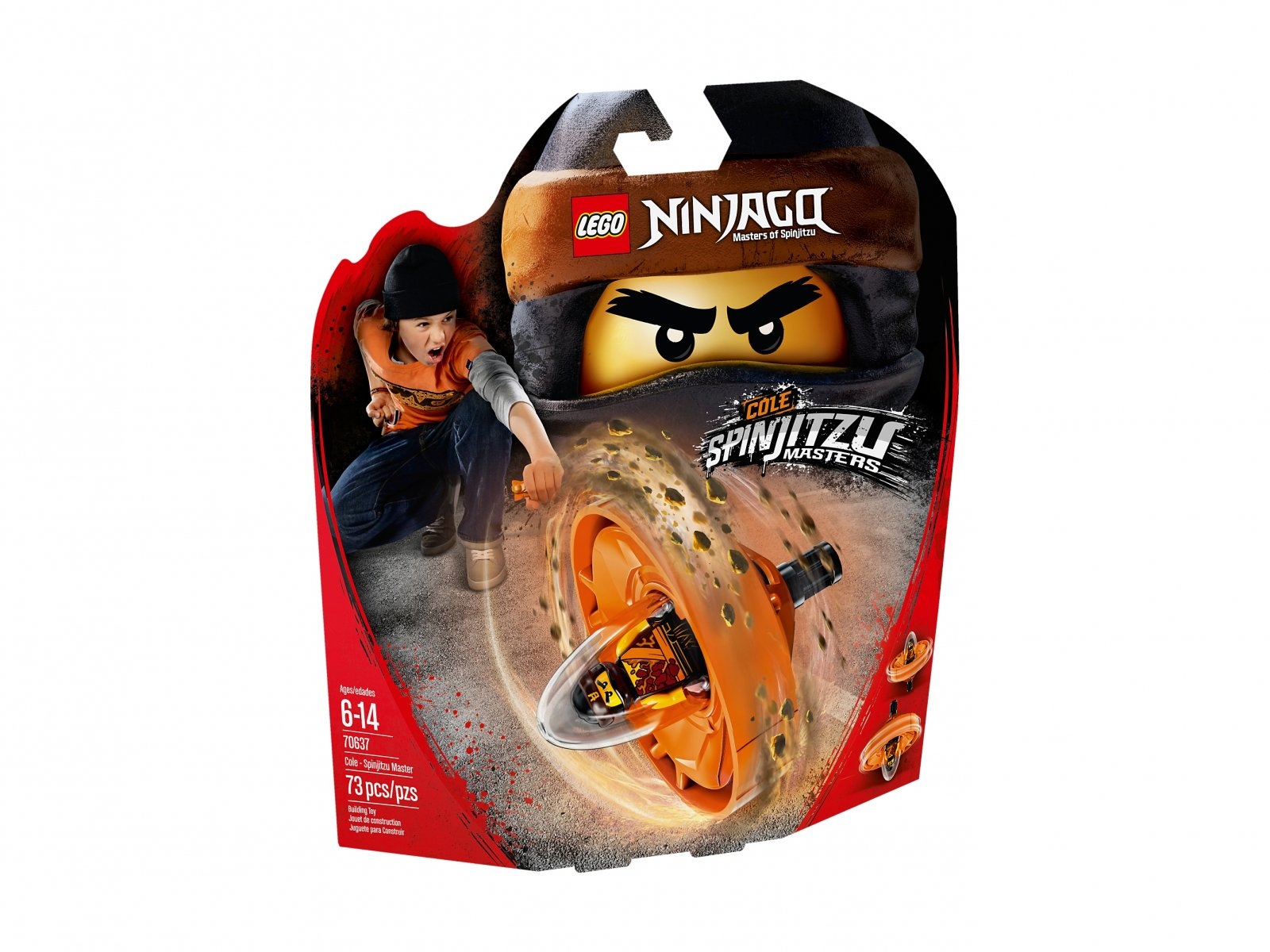 LEGO Ninjago® Cole - mistrz Spinjitzu 70637