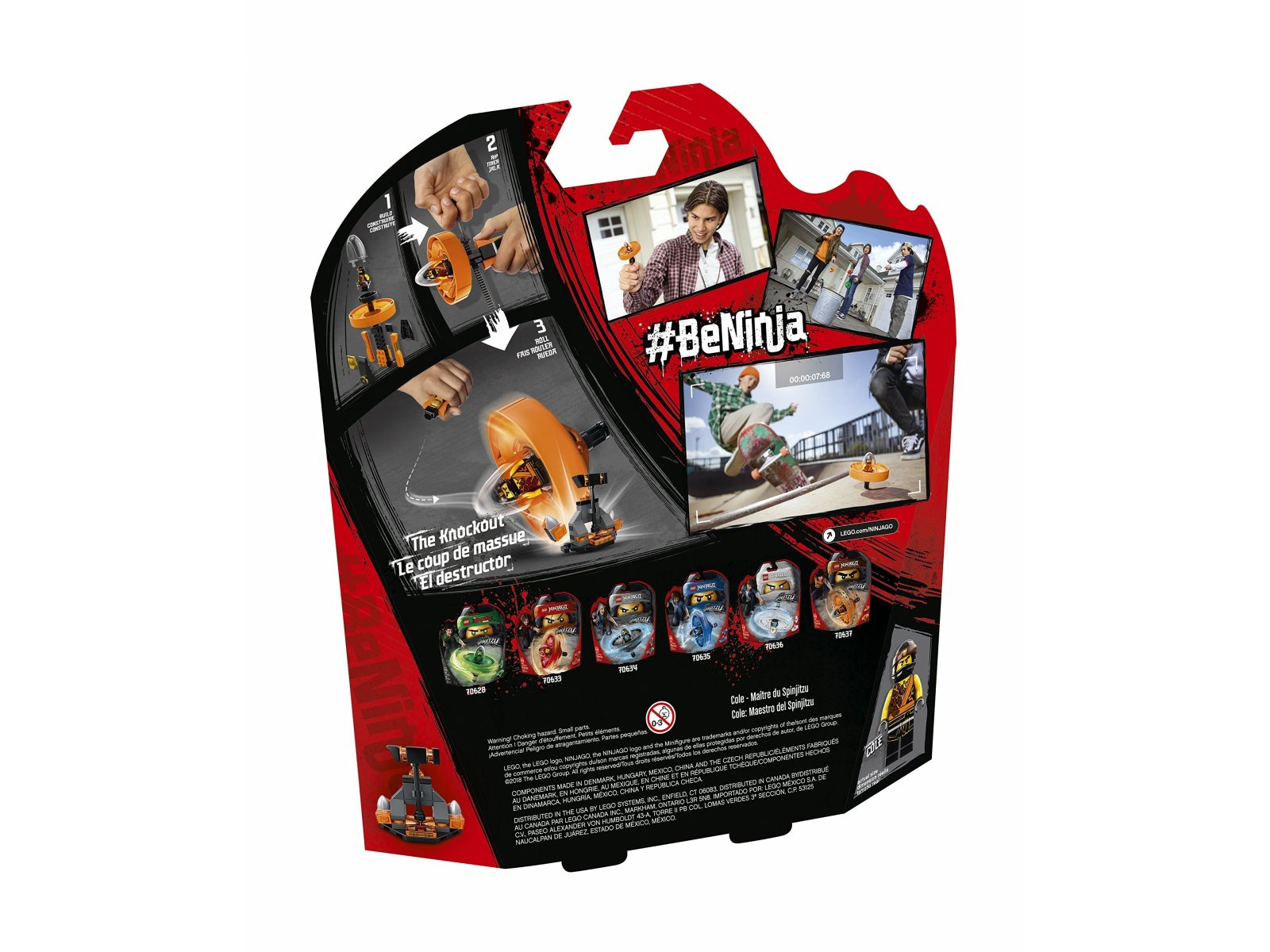 LEGO 70637 Ninjago® Cole - mistrz Spinjitzu