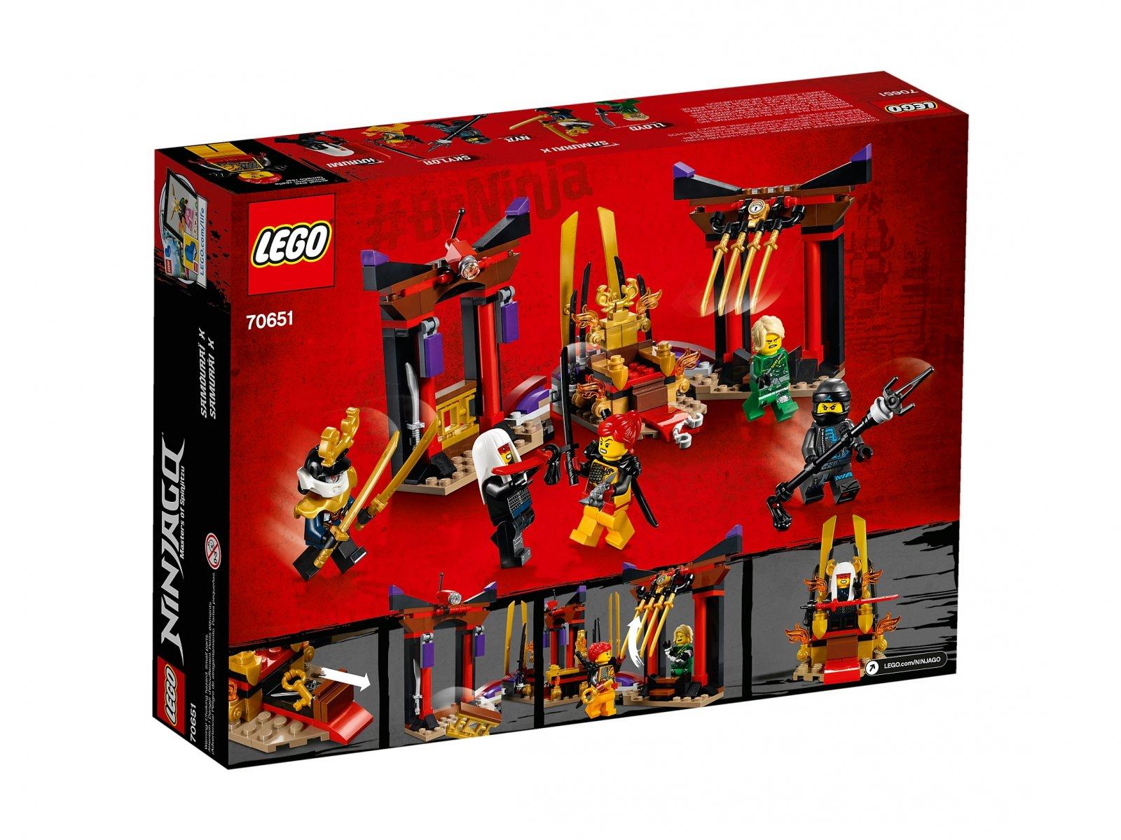 LEGO Ninjago® Starcie w sali tronowej 70651
