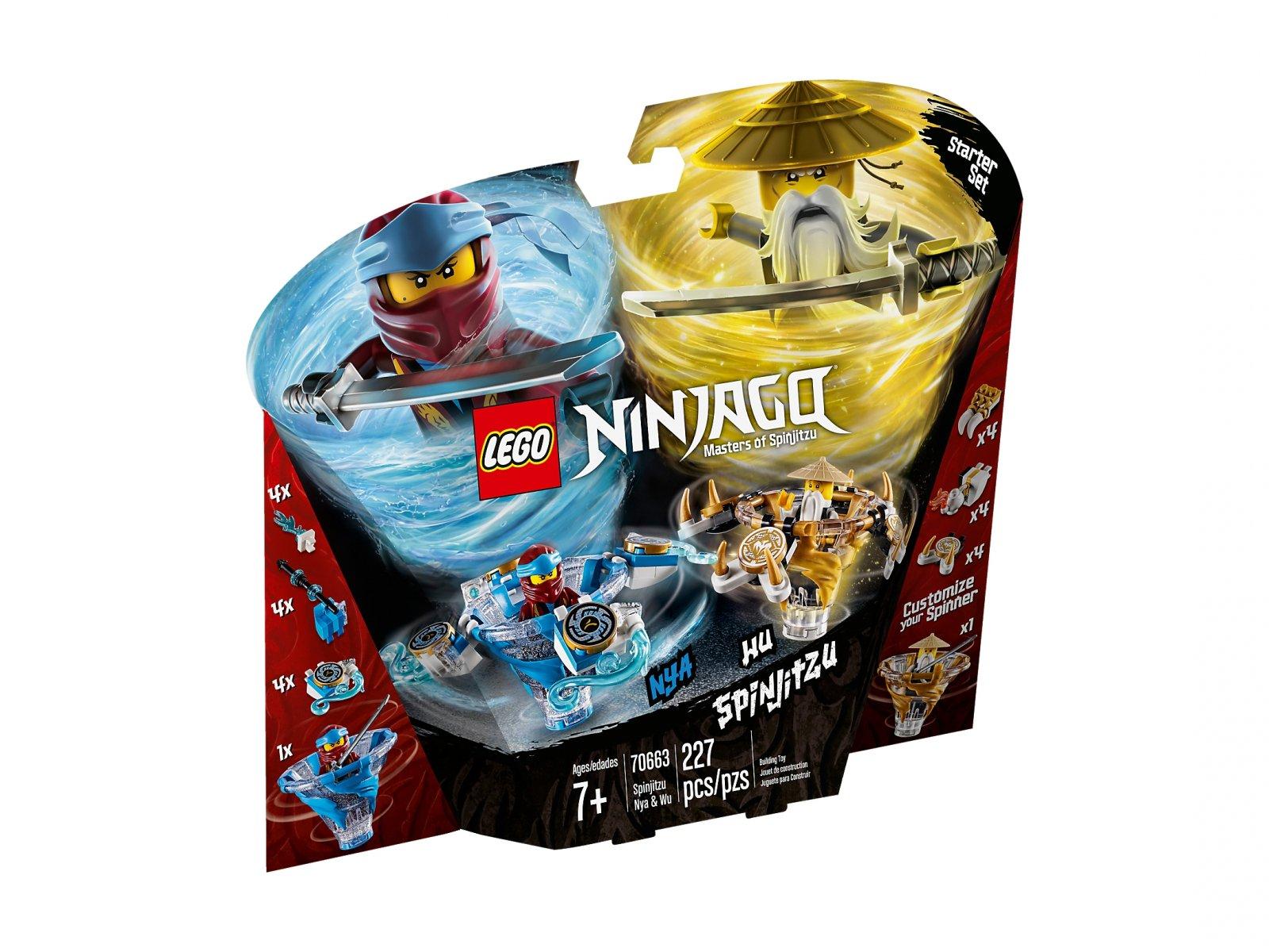 LEGO Ninjago® Spinjitzu Nya & Wu 70663