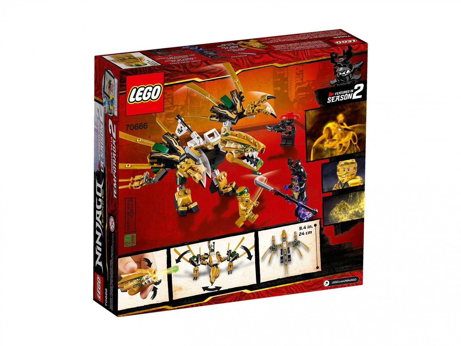 LEGO 70666 Ninjago® Złoty Smok