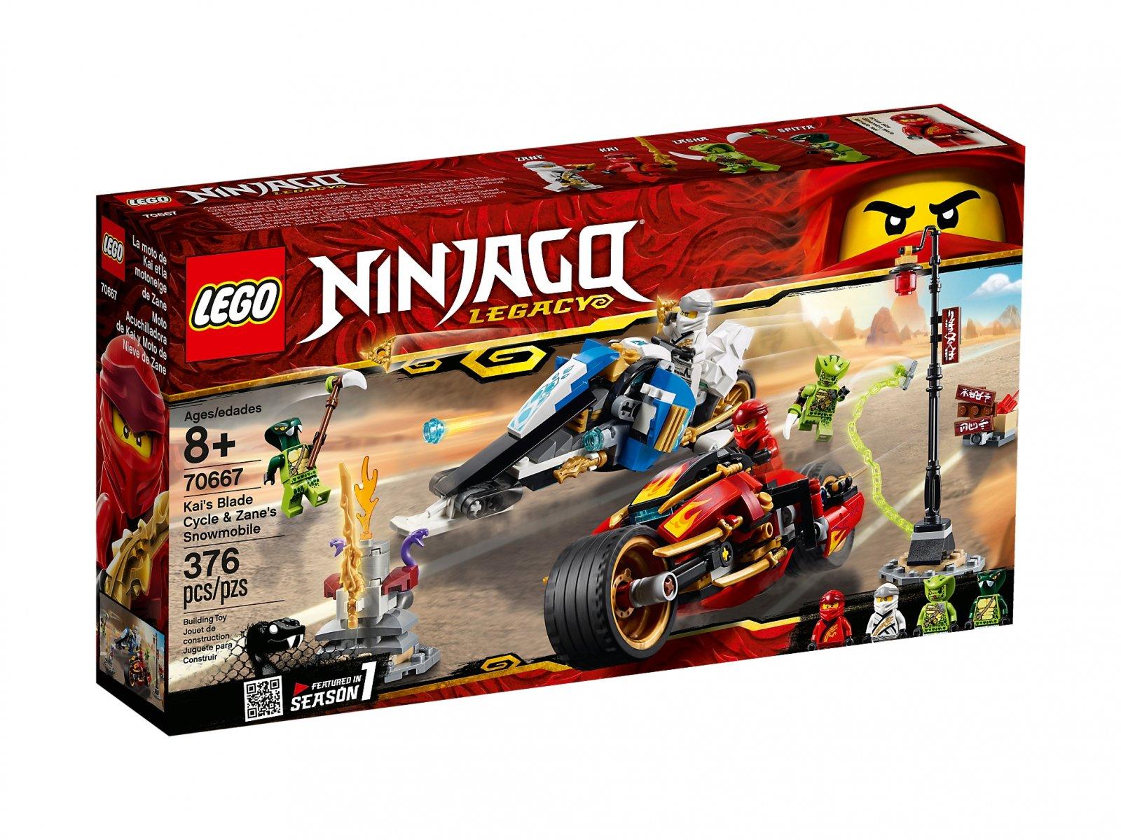 LEGO Ninjago® Motocykl Kaia i skuter Zane'a