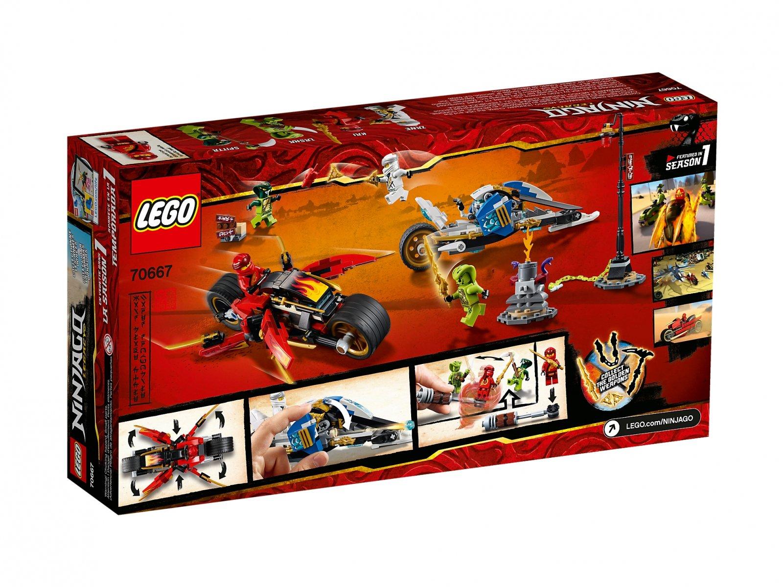 LEGO 70667 Motocykl Kaia i skuter Zane'a