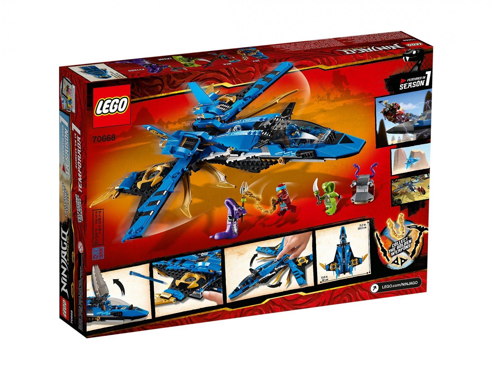 LEGO Ninjago® 70668 Burzowy myśliwiec Jaya
