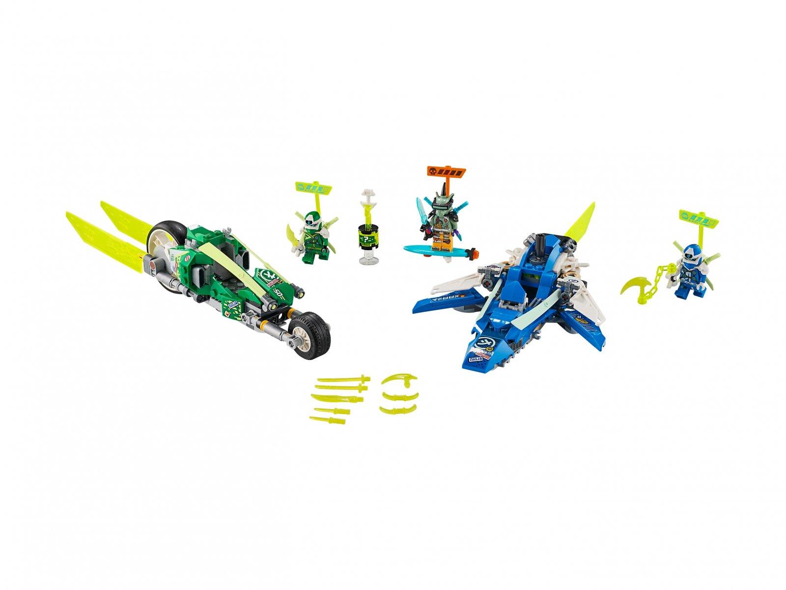 LEGO Ninjago® Wyścigówki Jaya i Lloyda 71709