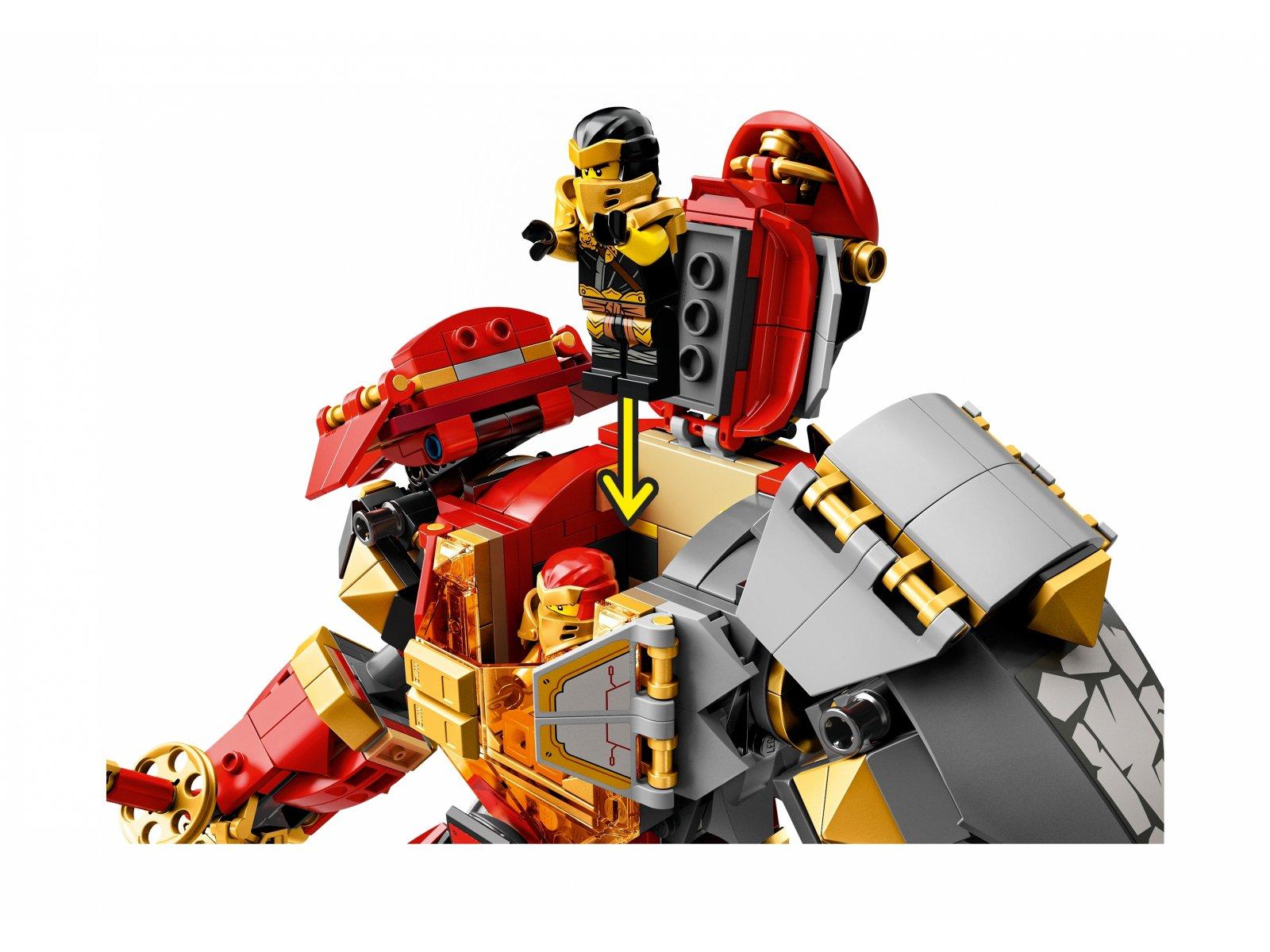 LEGO 71720 Mech z ognia i kamienia