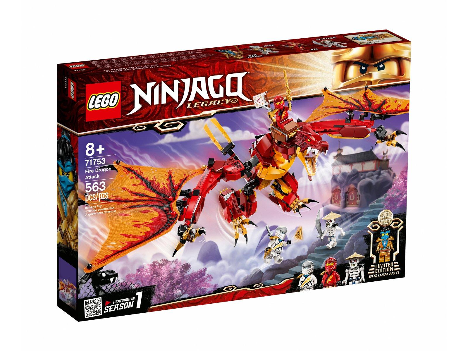 LEGO Ninjago Atak smoka ognia 71753