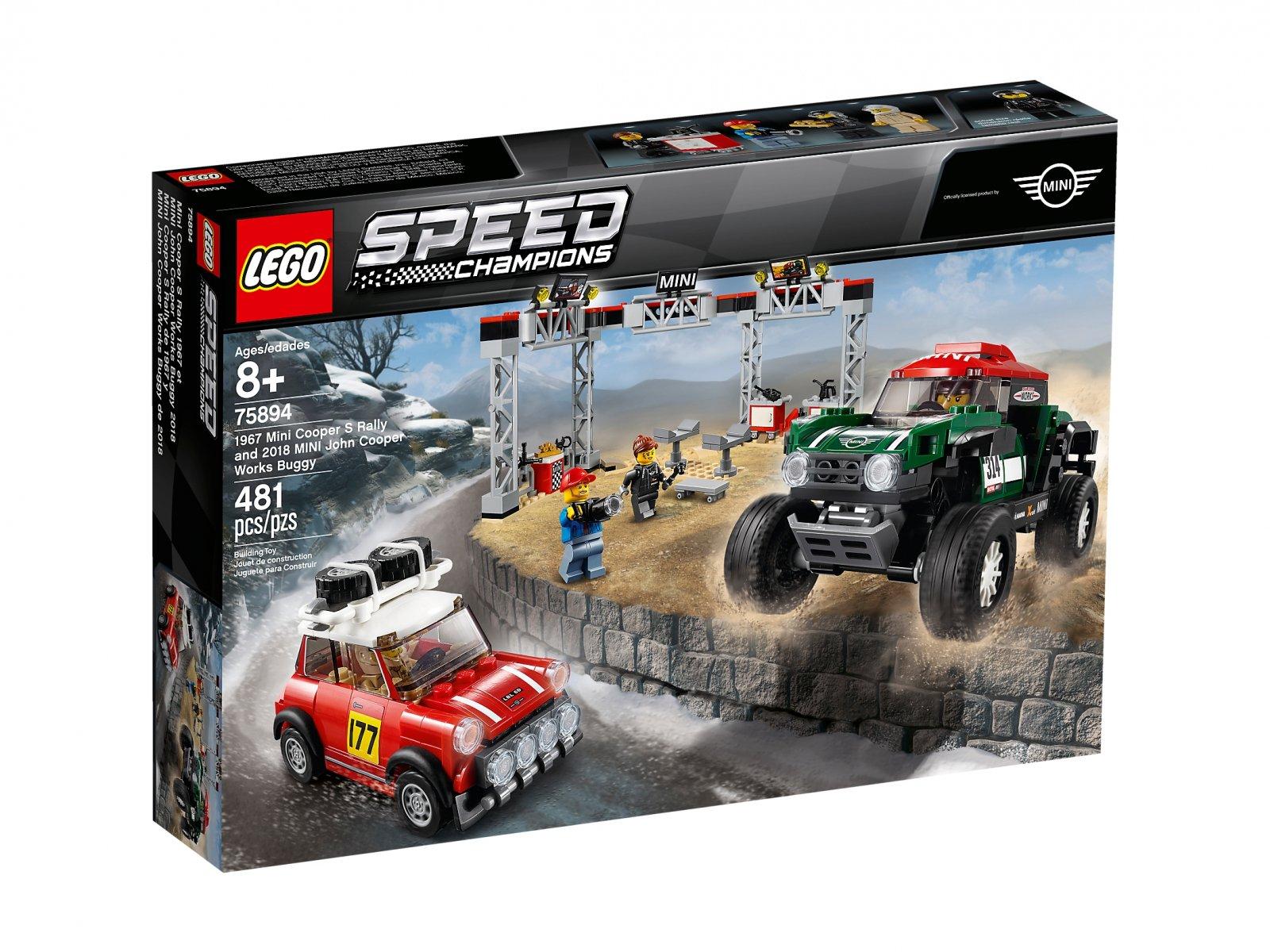 LEGO Speed Champions 1967 Mini Cooper S Rally oraz 2018 MINI John Cooper Works Buggy 75894