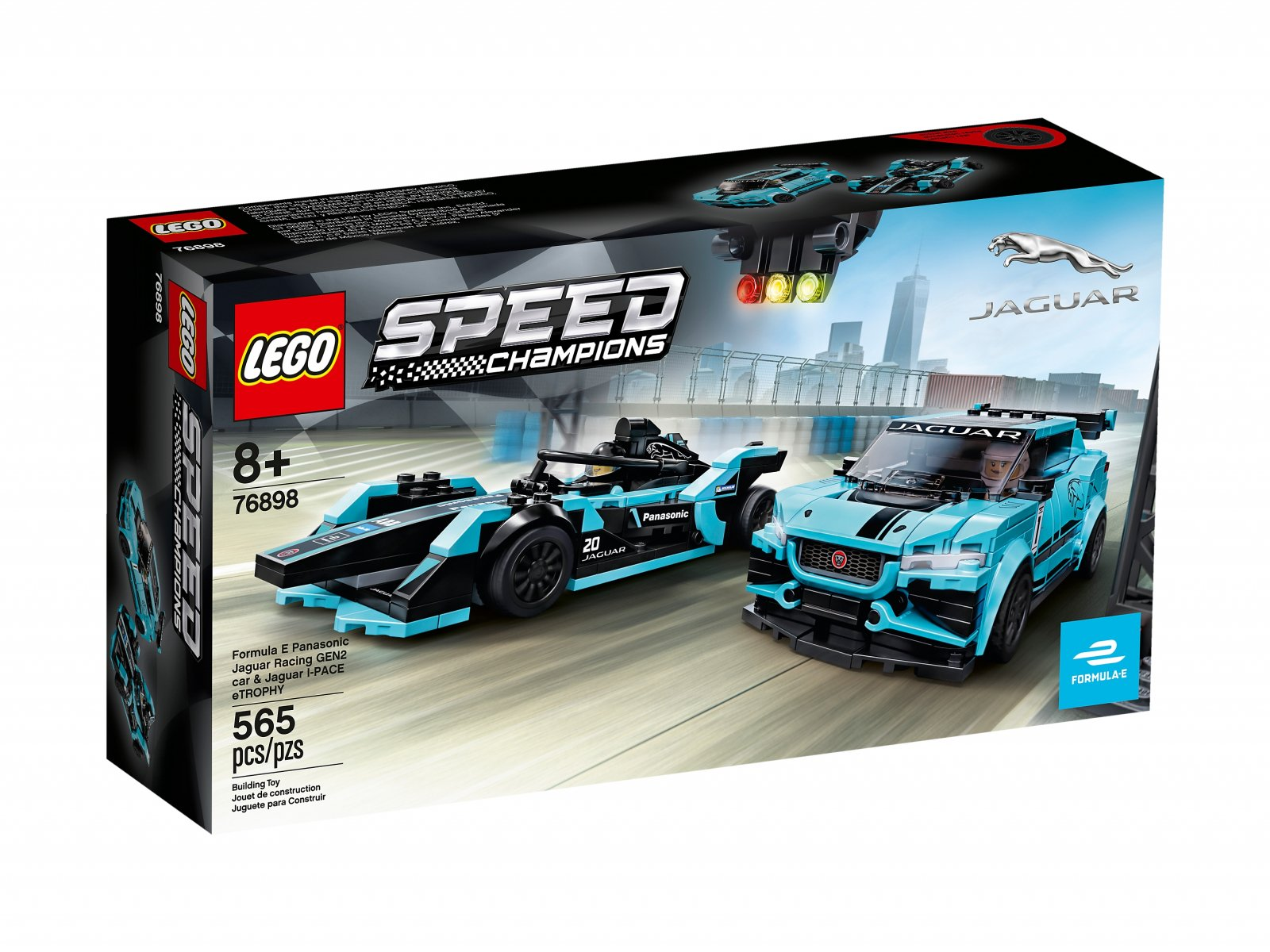 LEGO 76898 Speed Champions Formula E Panasonic Jaguar Racing GEN2 car i Jaguar I-PACE eTROP