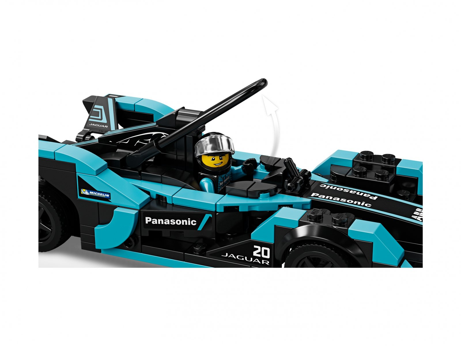 LEGO Speed Champions Formula E Panasonic Jaguar Racing GEN2 car i Jaguar I-PACE eTROP 76898
