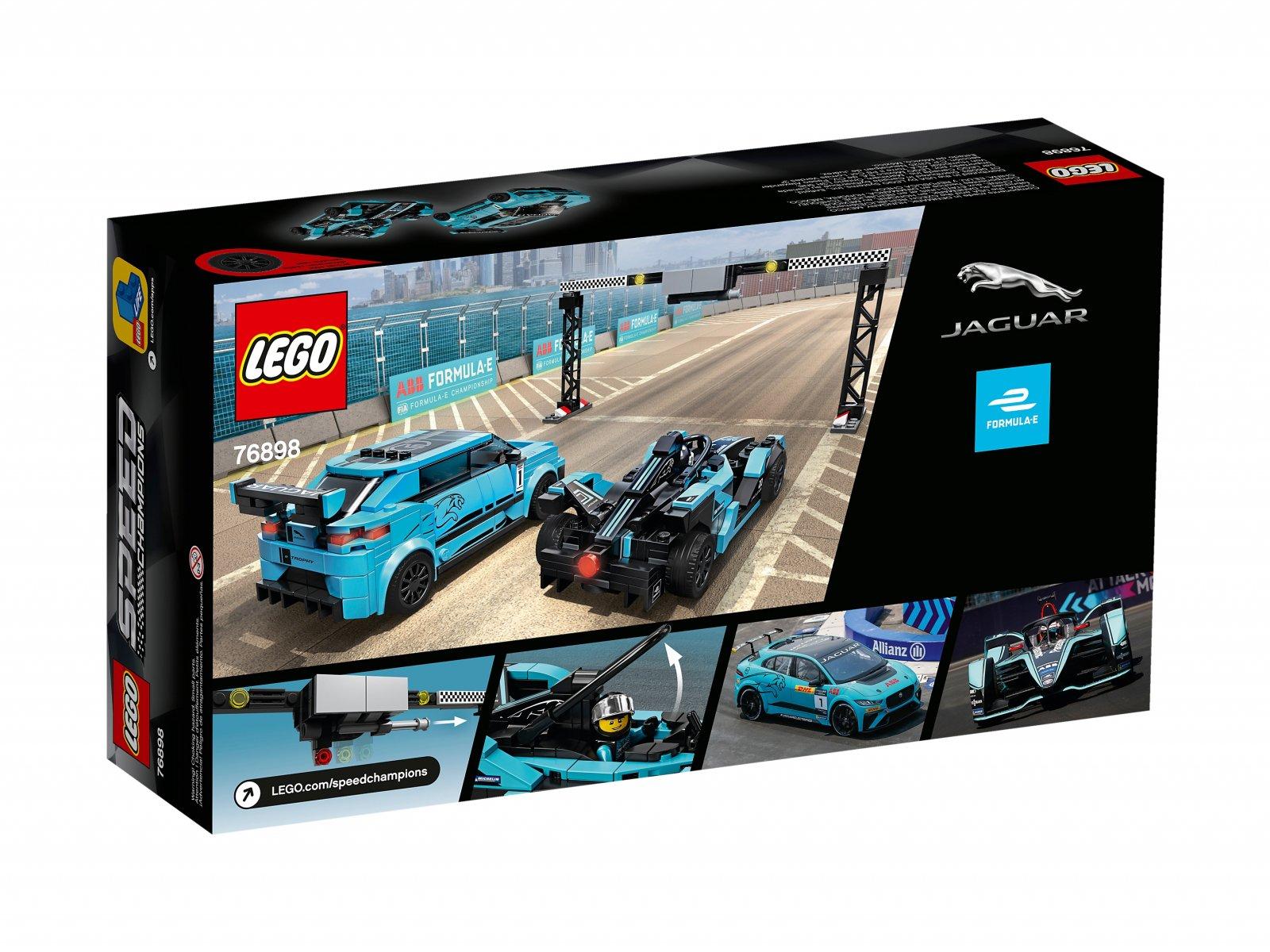 LEGO 76898 Speed Champions Formula E Panasonic Jaguar Racing GEN2 car i Jaguar I-PACE eTROP
