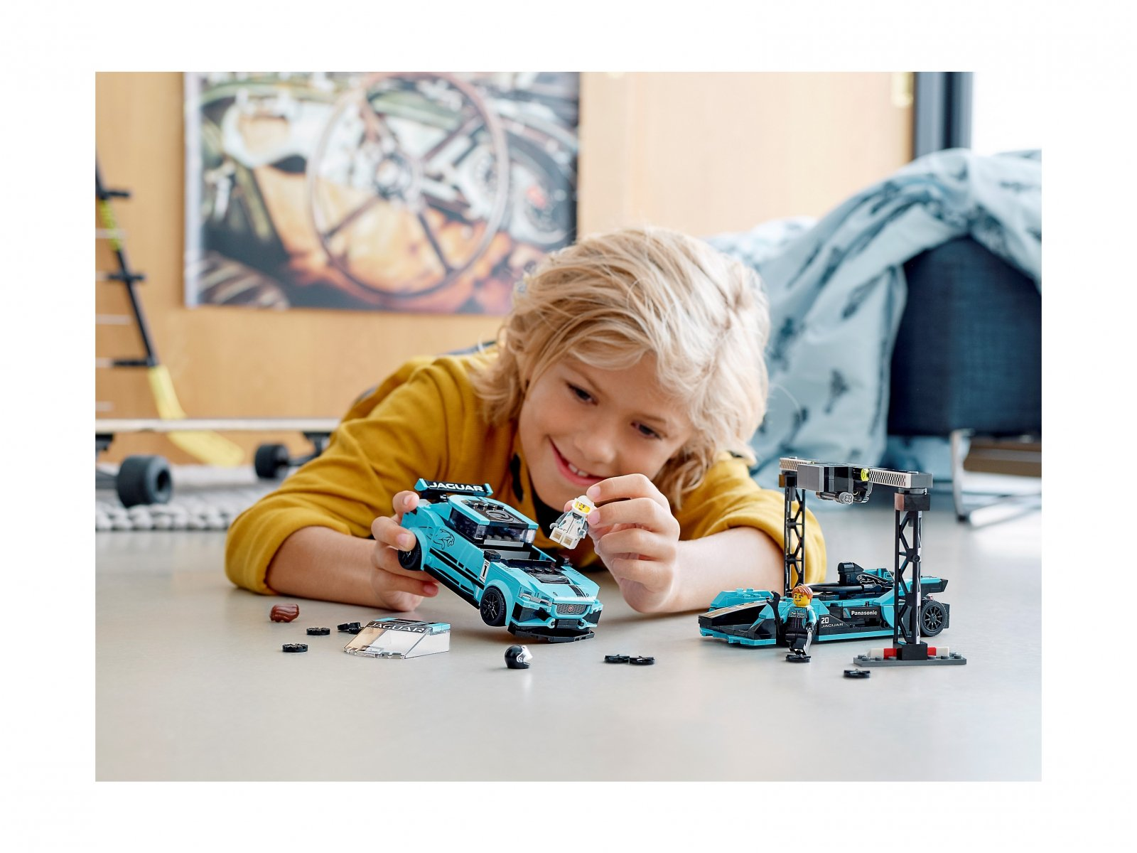 LEGO Speed Champions 76898 Formula E Panasonic Jaguar Racing GEN2 car i Jaguar I-PACE eTROP