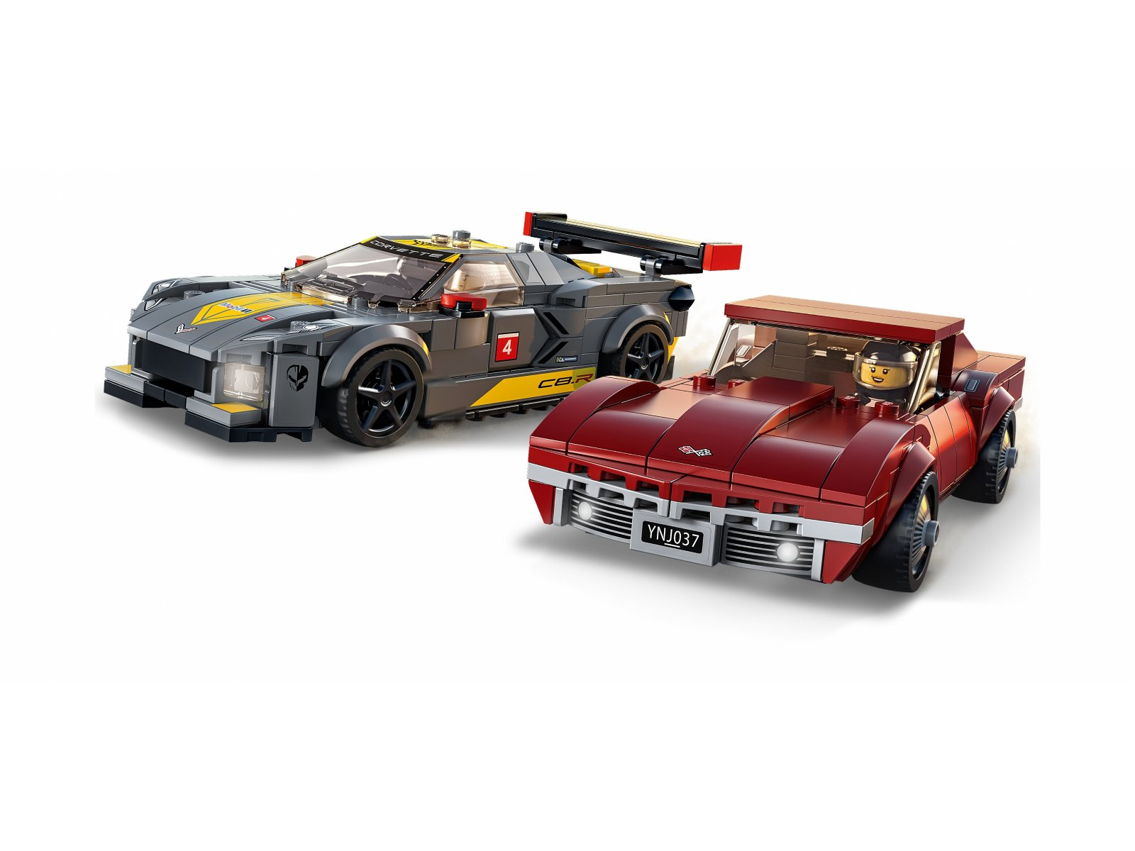 LEGO 76903 Samochód wyścigowy Chevrolet Corvette C8.R i 1968 Chevrolet Corv