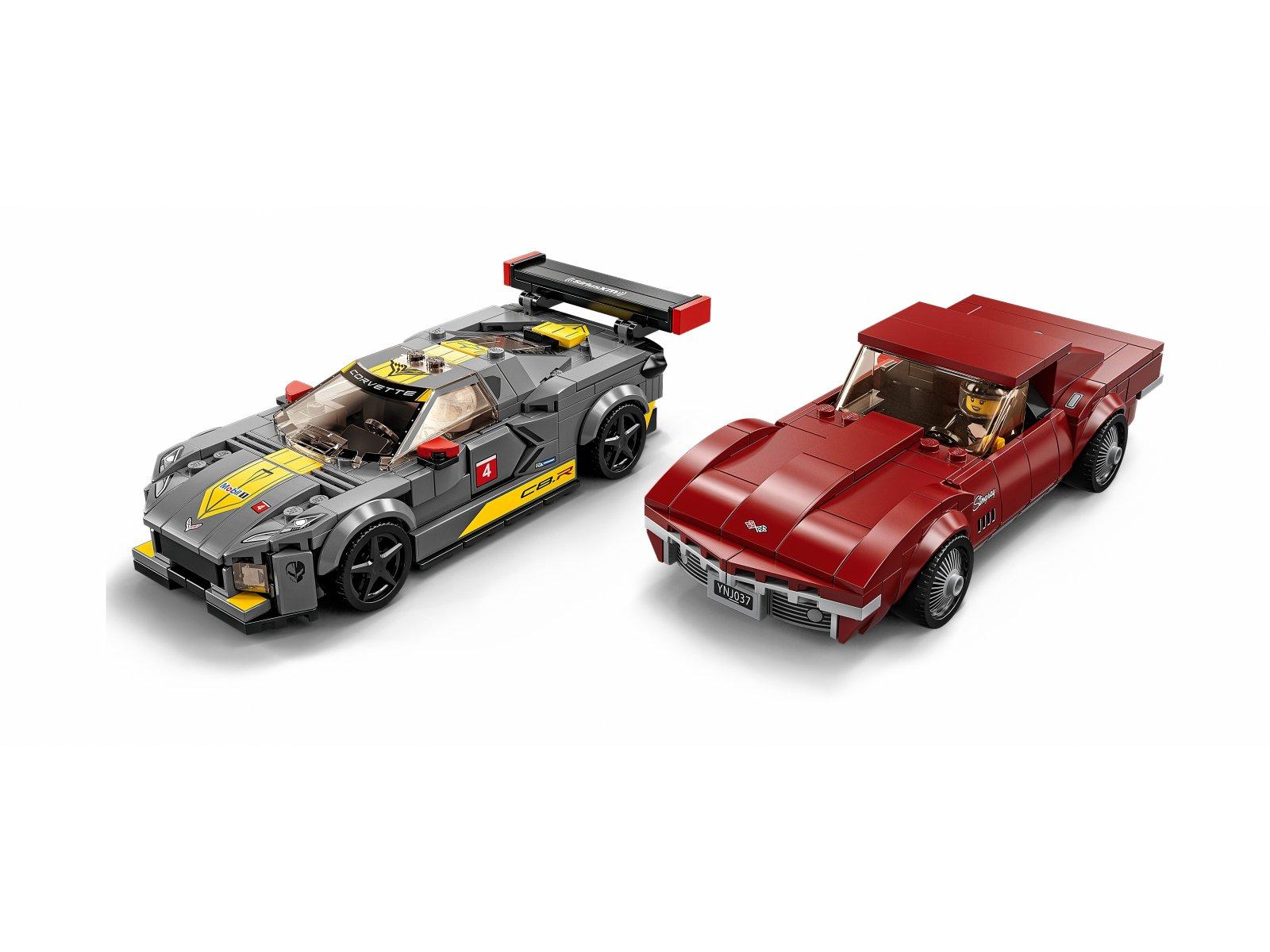 LEGO Speed Champions 76903 Samochód wyścigowy Chevrolet Corvette C8.R i 1968 Chevrolet Corv
