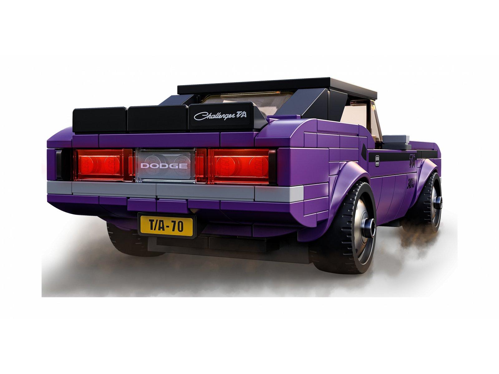 LEGO 76904 Speed Champions Mopar Dodge//SRT Top Fuel Dragster i 1970 Dodge Challenger T/A
