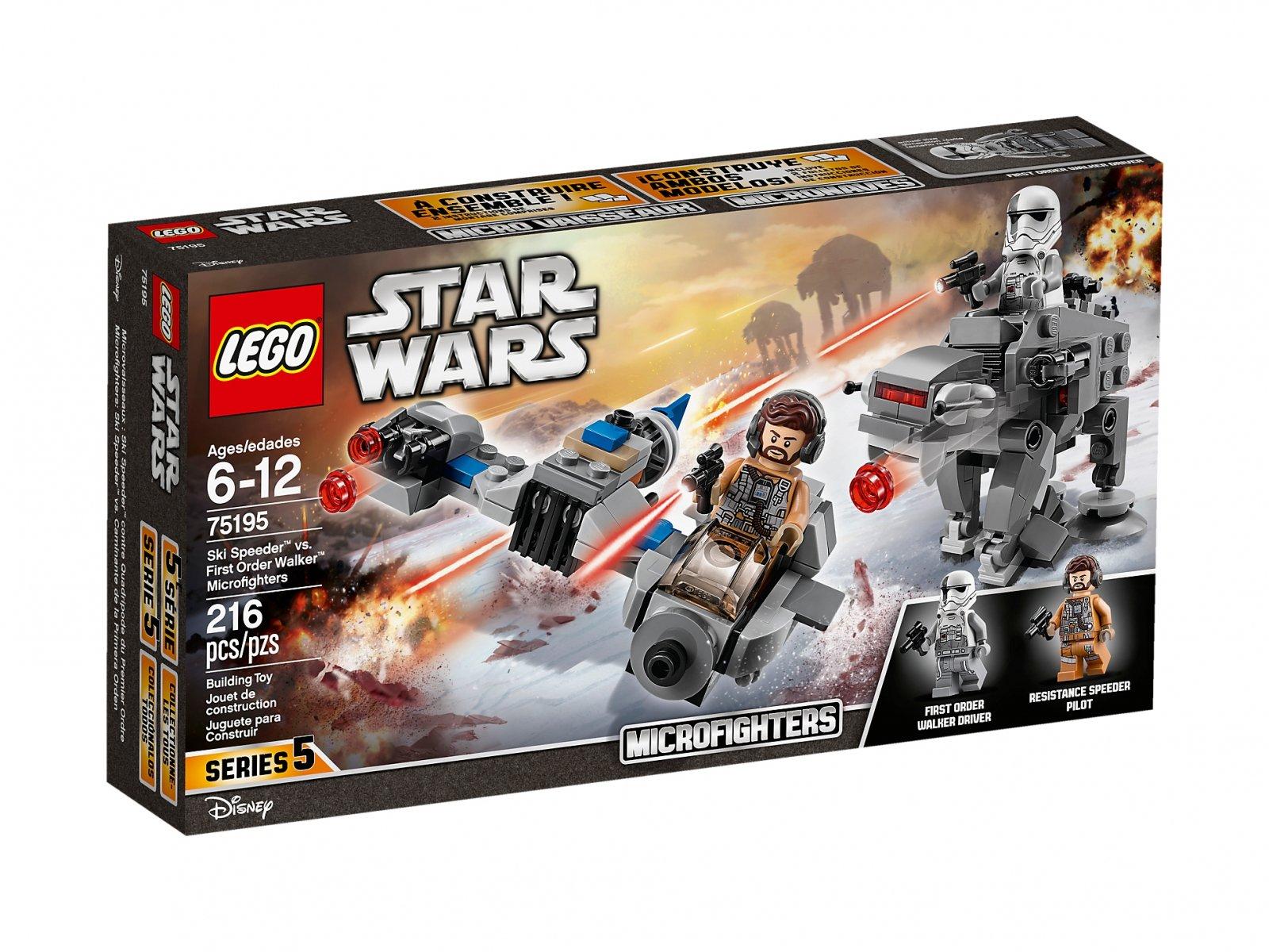 LEGO 75195 Star Wars™ Ski Speeder™ kontra Maszyna krocząca Najwyższego Porządku™
