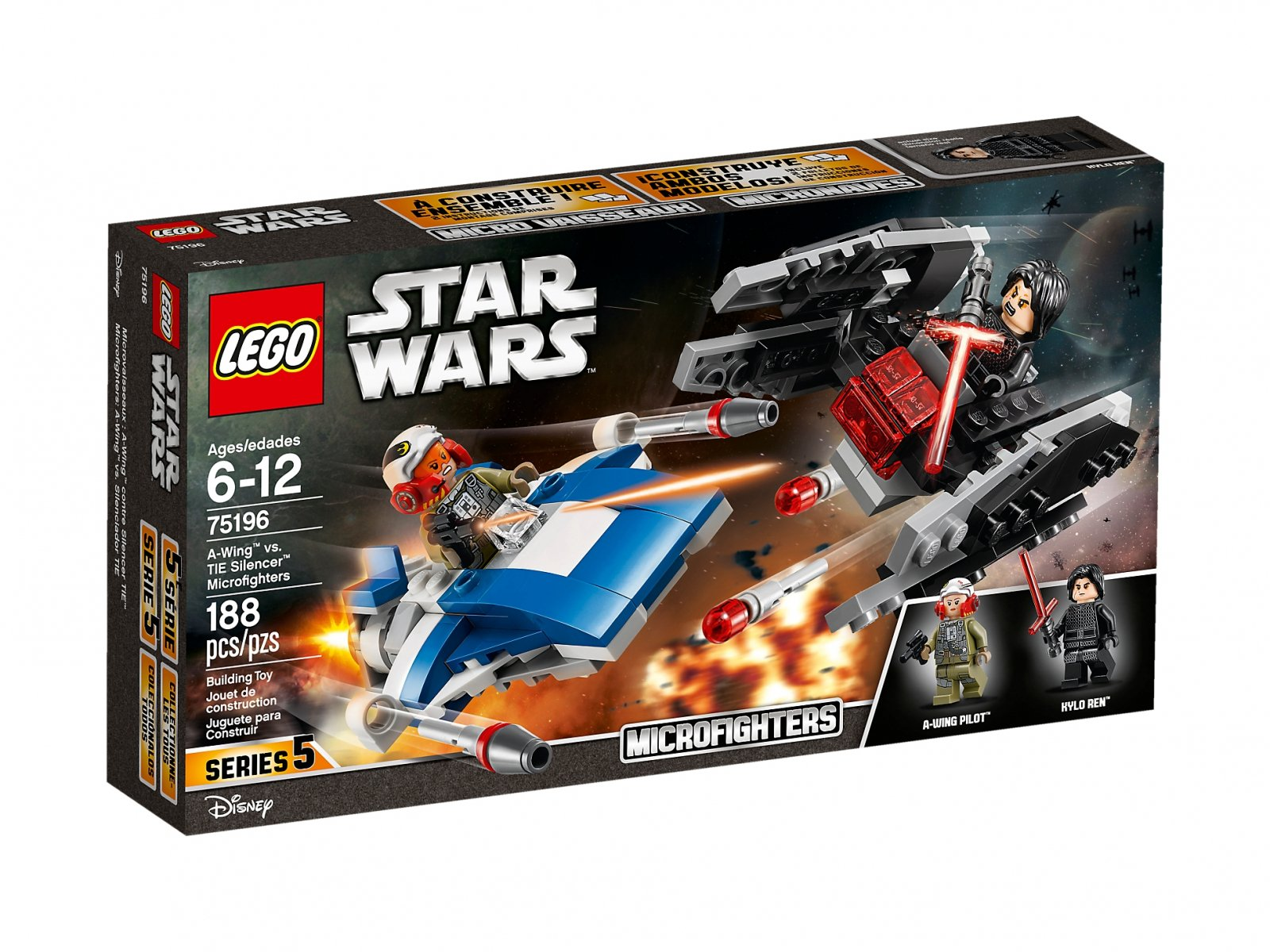 LEGO Star Wars™ 75196 A-Wing™ kontra TIE Silencer™