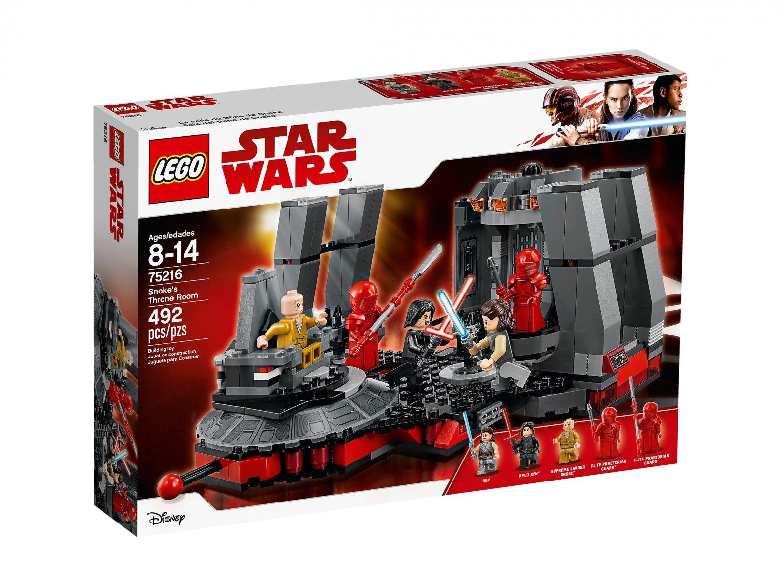 LEGO 75216 Sala Tronowa Snoke'a