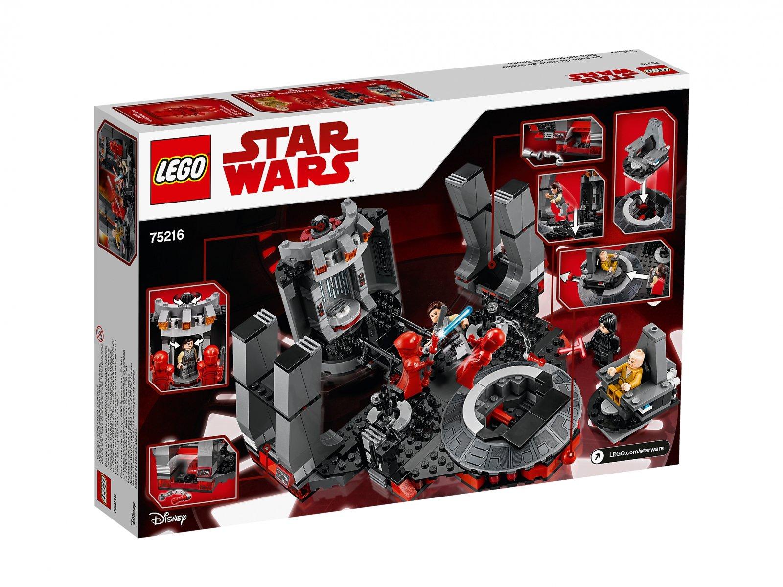 LEGO Star Wars™ 75216 Sala Tronowa Snoke'a