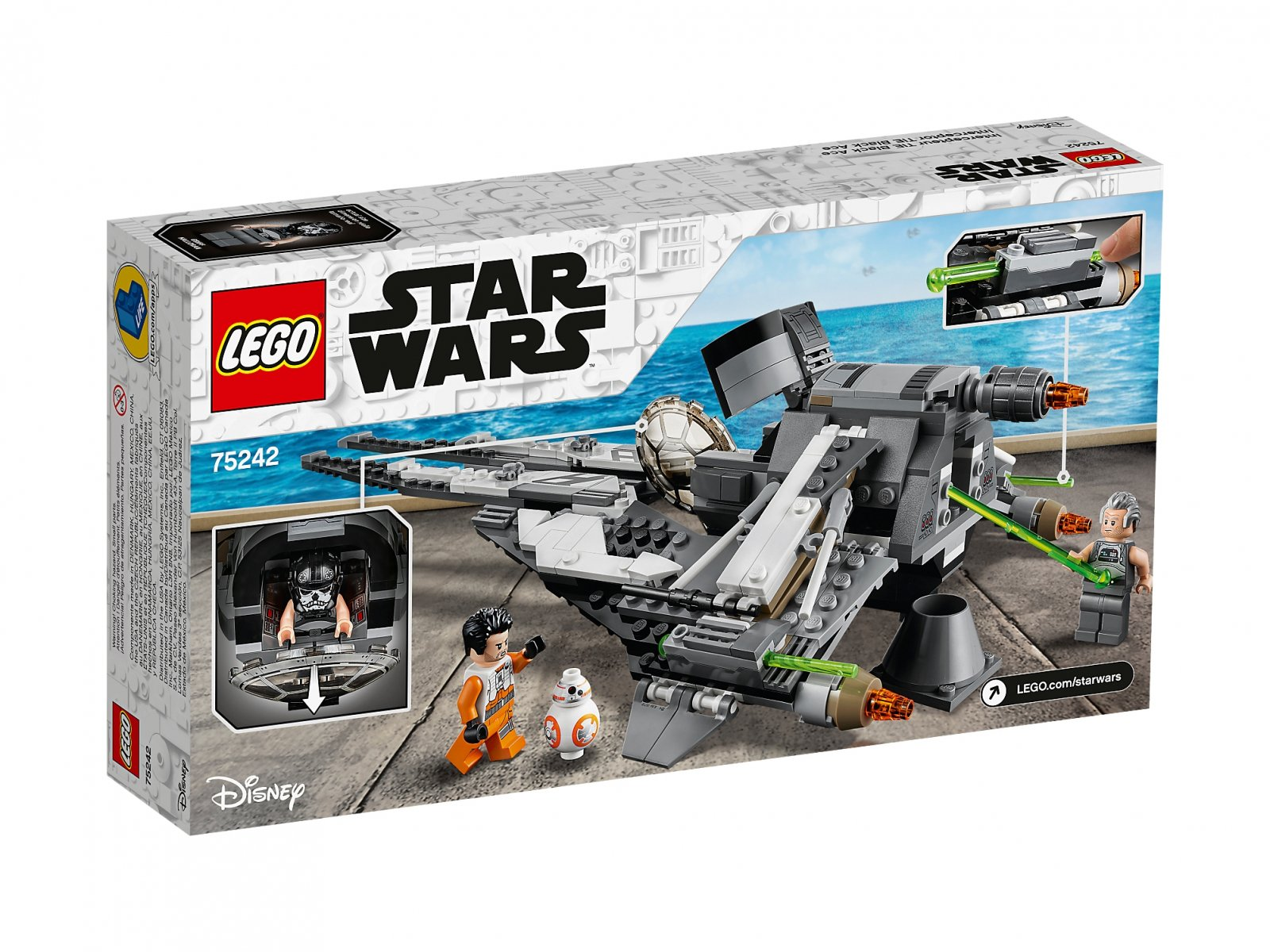LEGO 75242 Star Wars™ TIE Interceptor Czarny As