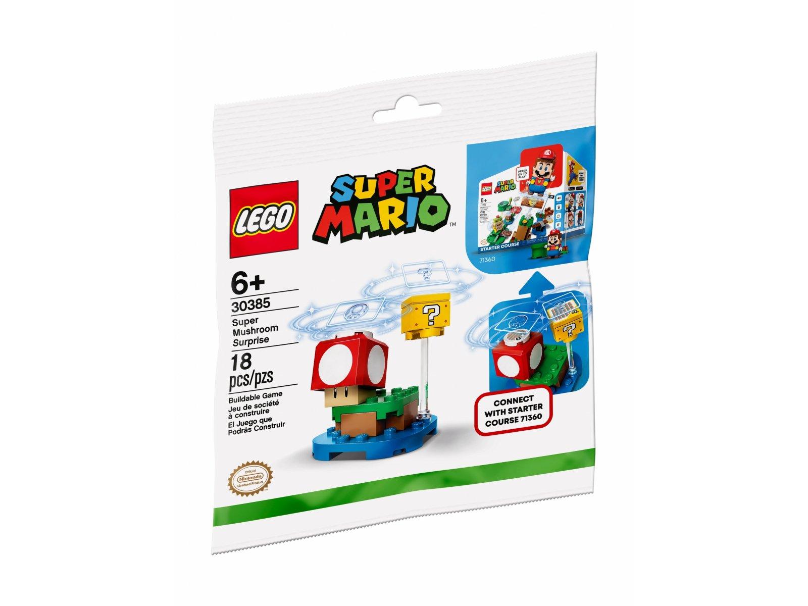 LEGO 30385 Super Mario Supergrzybowa niespodzianka - zestaw rozszerzający