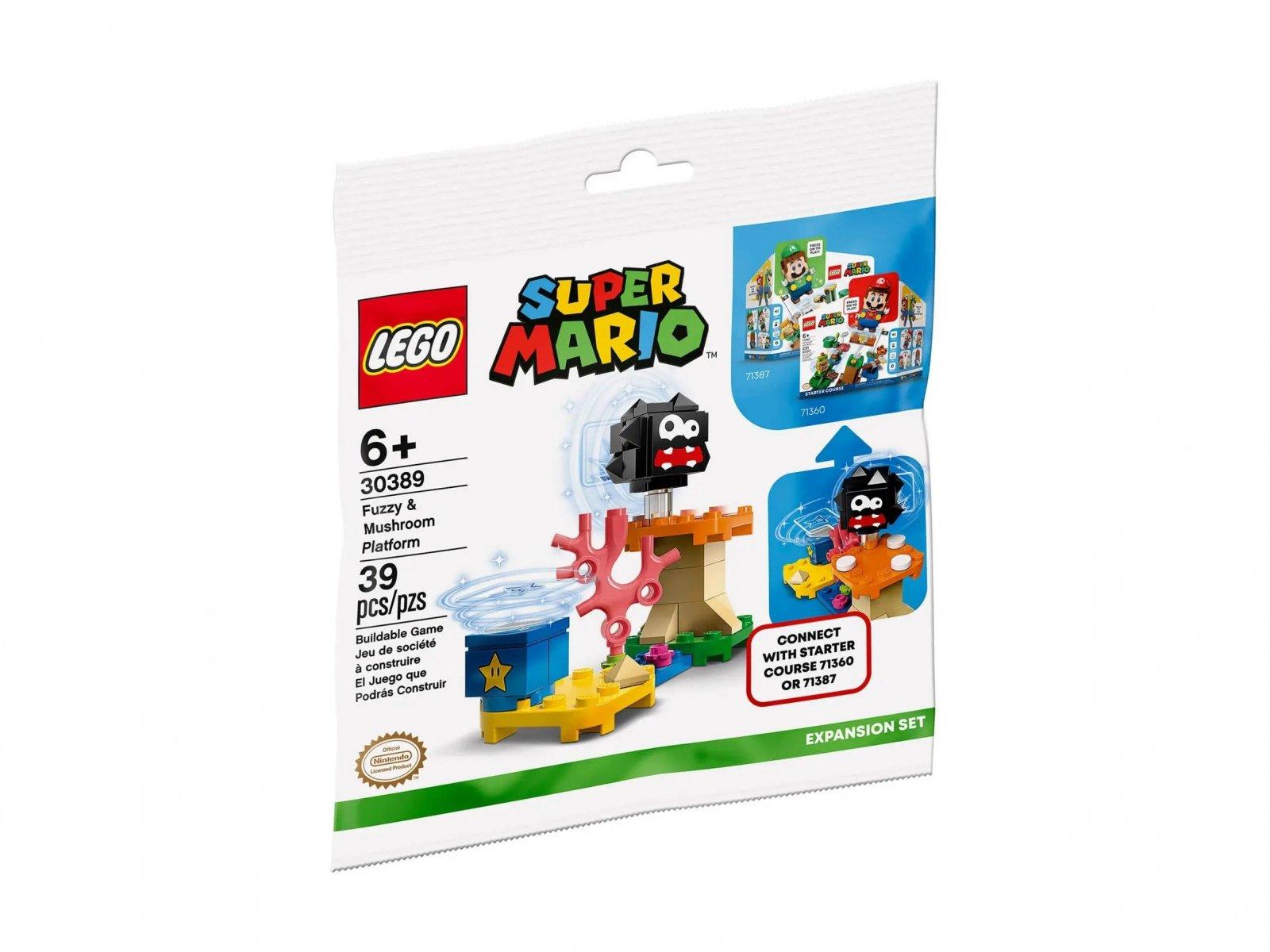 LEGO 30389 Super Mario Fuzzy i platforma z grzybem