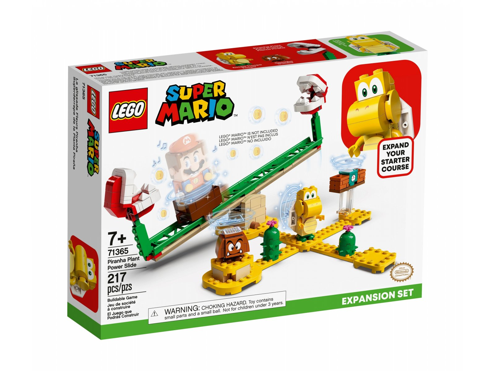 LEGO 71365 Super Mario Megazjeżdżalnia Piranha Plant - zestaw rozszerzający