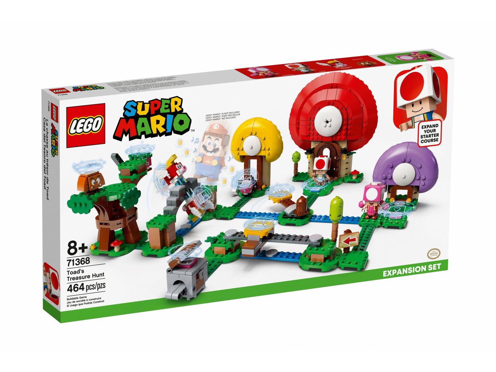 LEGO 71368 Super Mario Toad szuka skarbu - zestaw rozszerzający