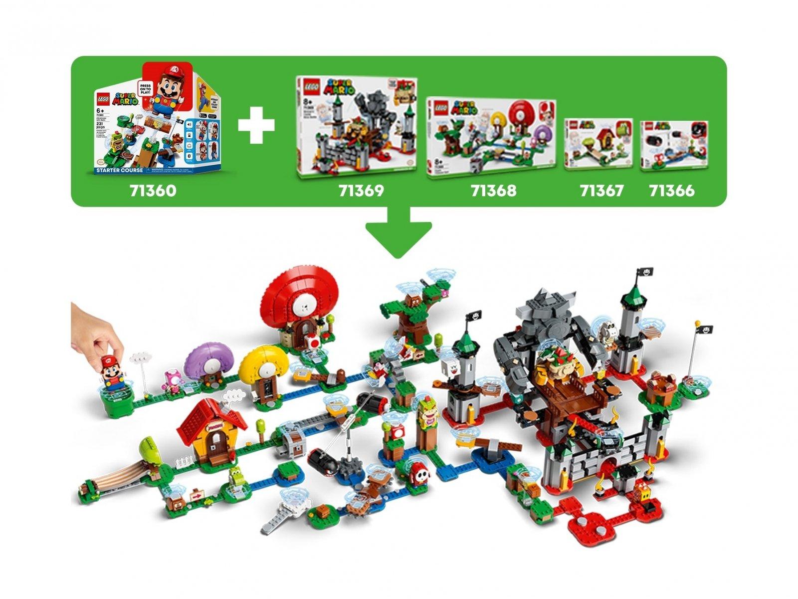 LEGO 71376 Super Mario Spadający Thwomp - zestaw rozszerzający