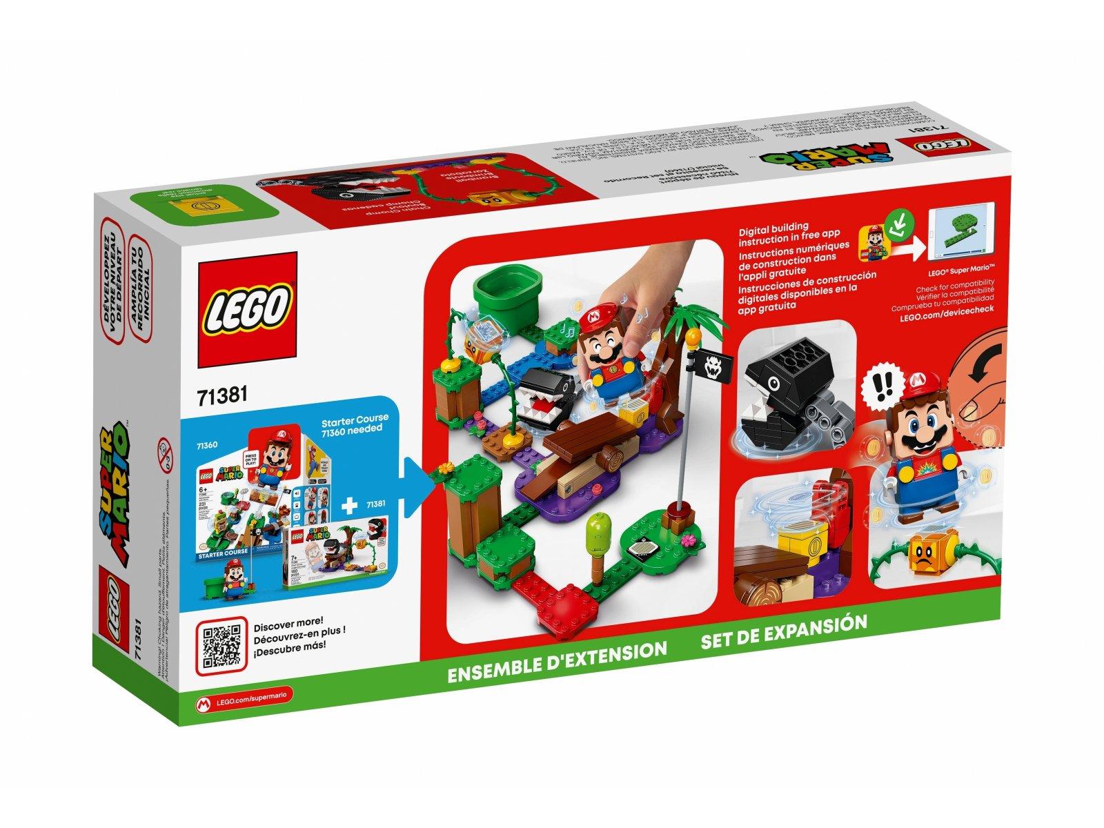 LEGO Super Mario 71381 Spotkanie z Chain Chompem w dżungli - zestaw dodatkowy