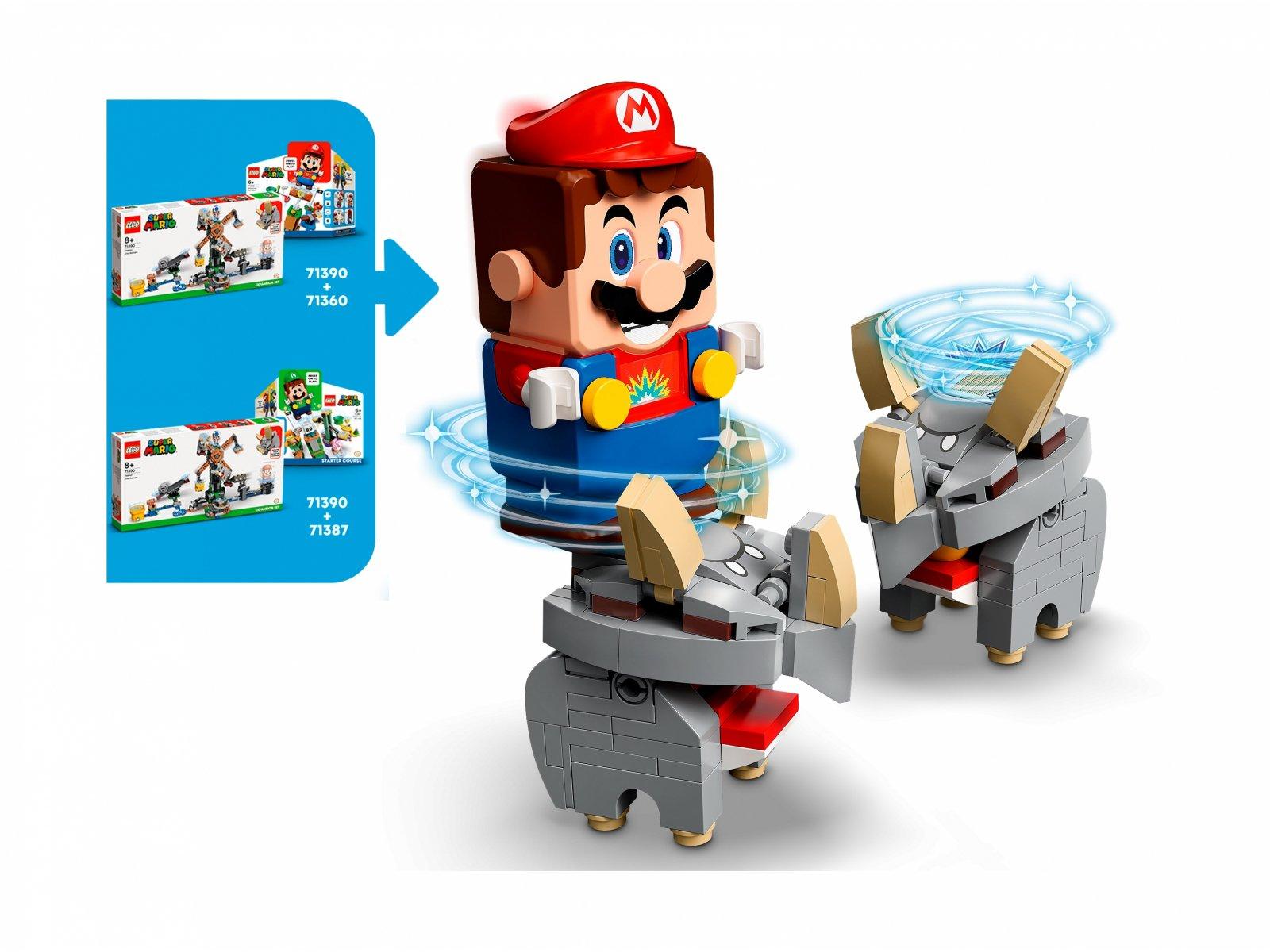 LEGO 71390 Super Mario Walka z Reznorami — zestaw dodatkowy
