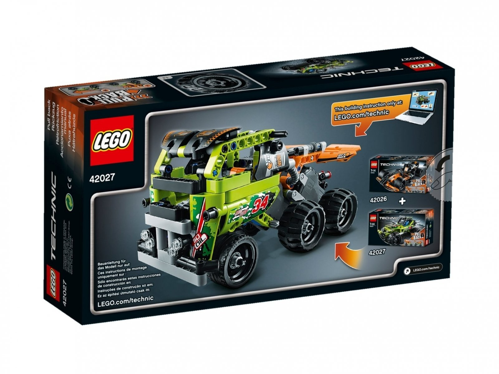 LEGO 42027 Technic Pustynna wyścigówka