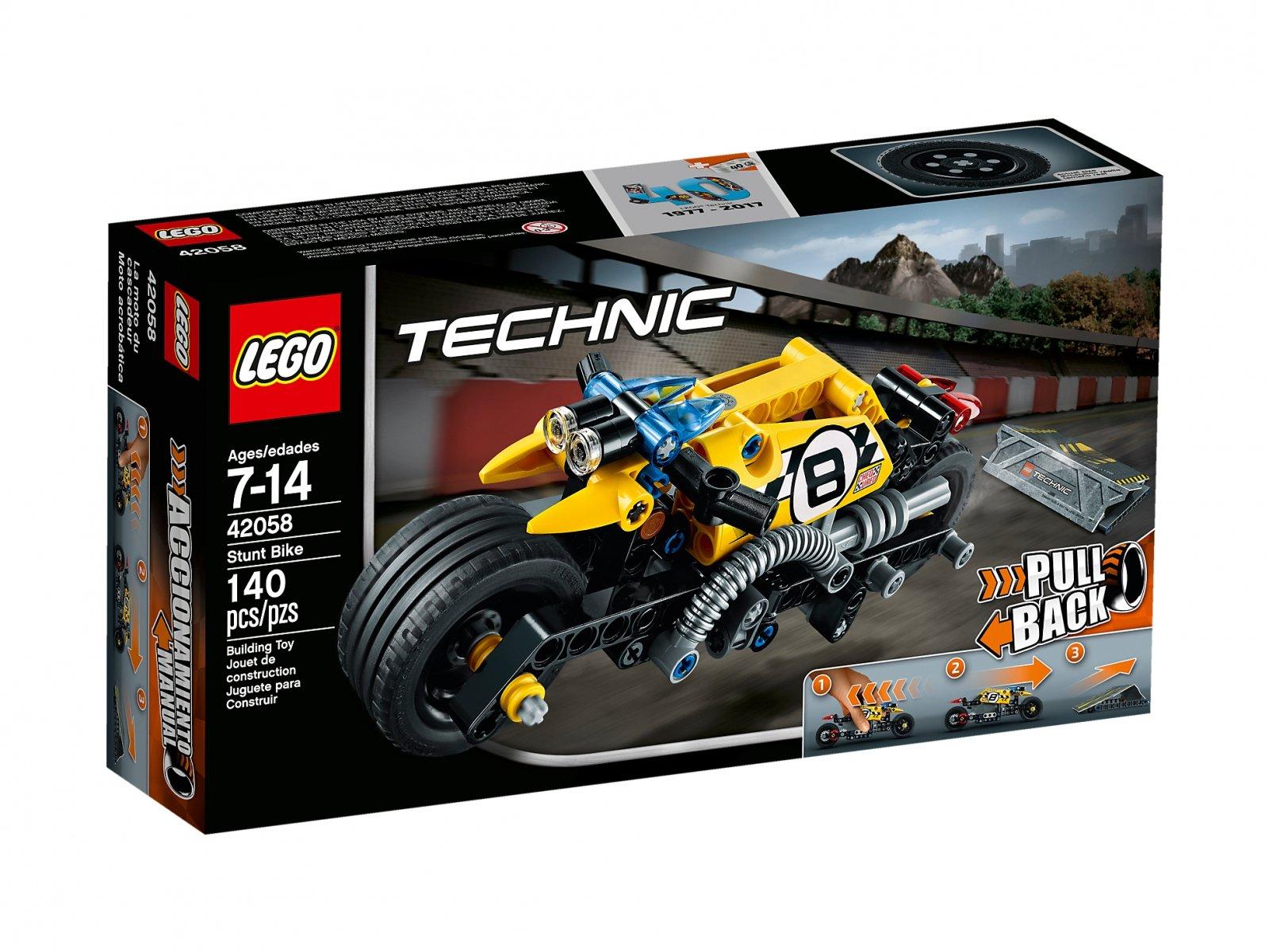 LEGO Technic Kaskaderski motocykl 42058