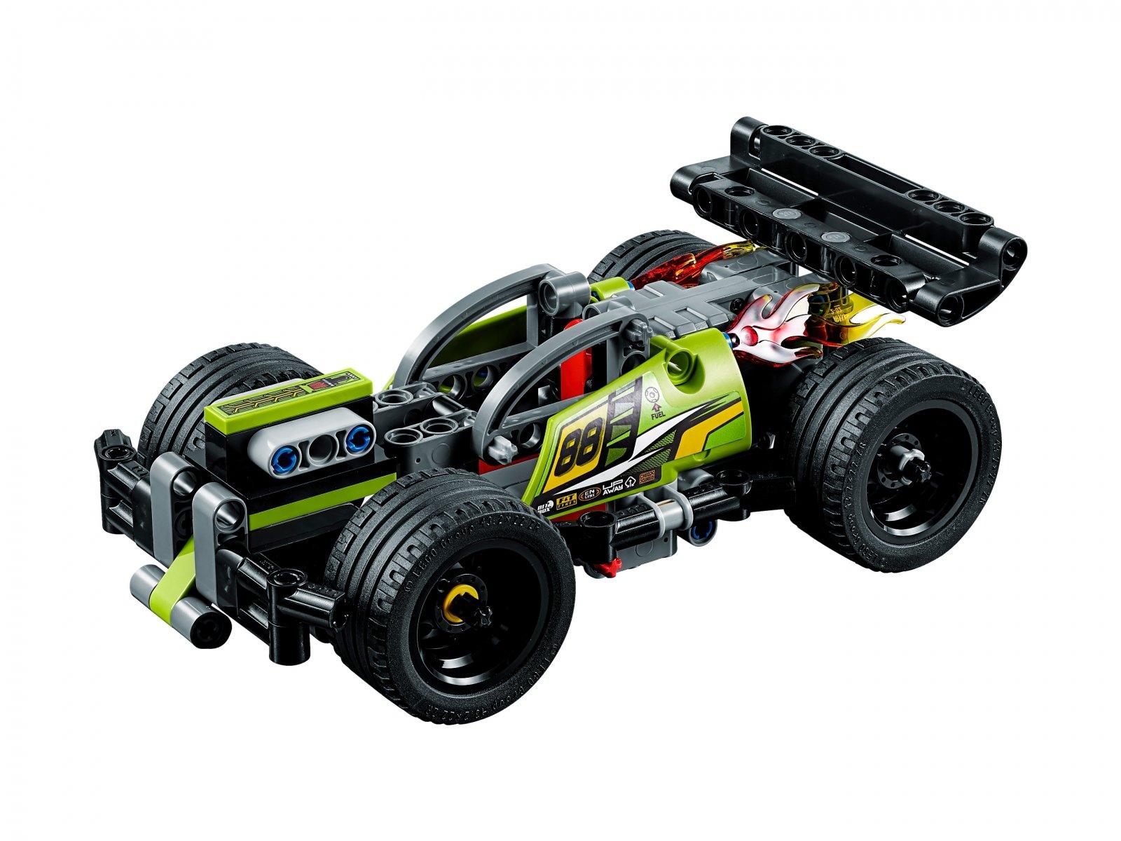 LEGO 42072 Technic Żółta wyścigówka