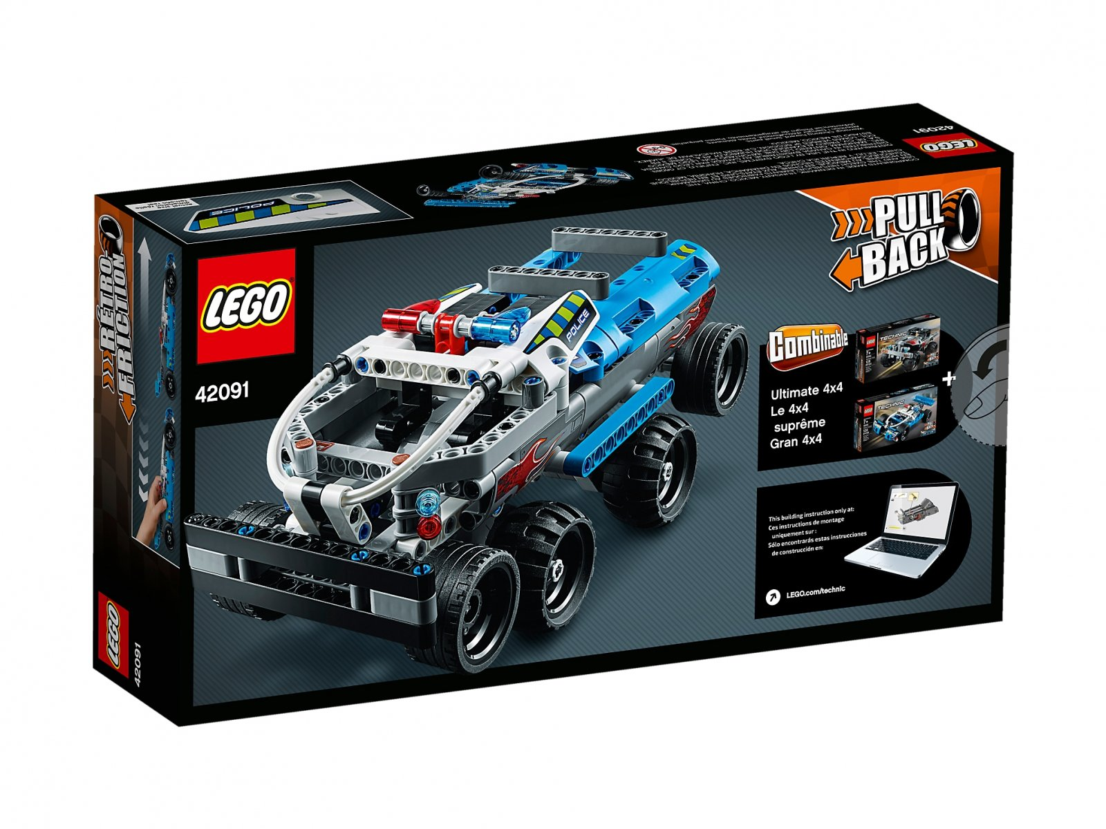 LEGO Technic Policyjny pościg 42091