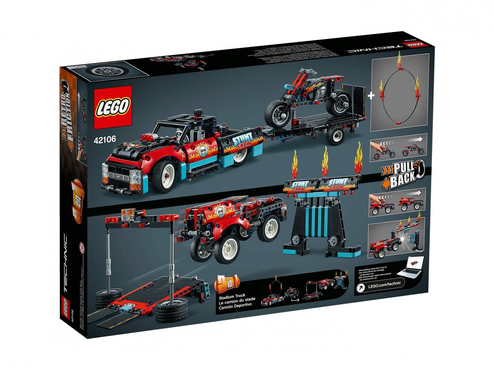LEGO 42106 Furgonetka i motocykl kaskaderski