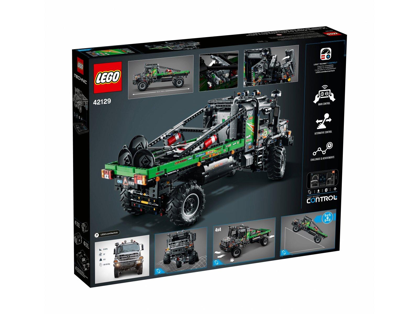 LEGO Technic 42129 Ciężarówka Mercedes-Benz Zetros z napędem na 4 koła
