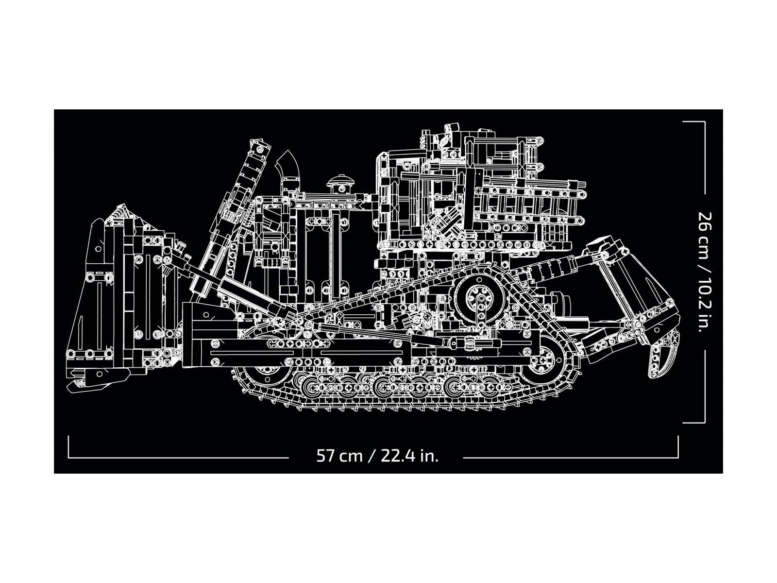 LEGO Technic 42131 Sterowany przez aplikację buldożer Cat® D11