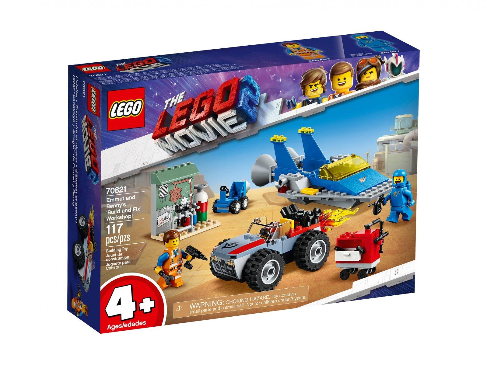 LEGO THE LEGO® MOVIE 2™ Warsztat Emmeta i Benka 70821