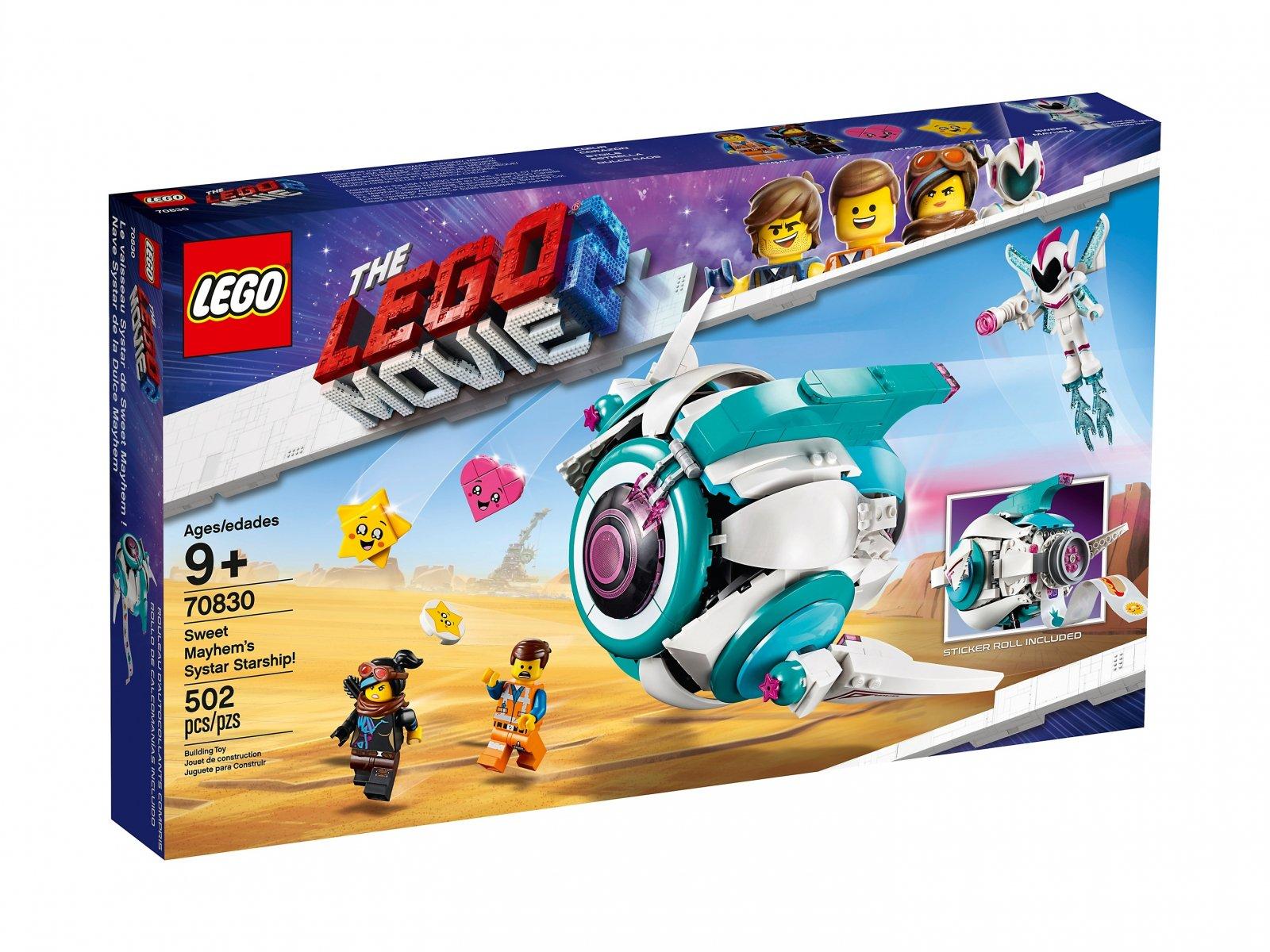 LEGO THE LEGO® MOVIE 2™ Gwiezdny statek Słodkiej Zadymy 70830